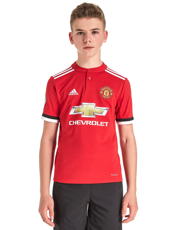 adidas Manchester United Pogba #6 2017/18 Home Shirt Jnr