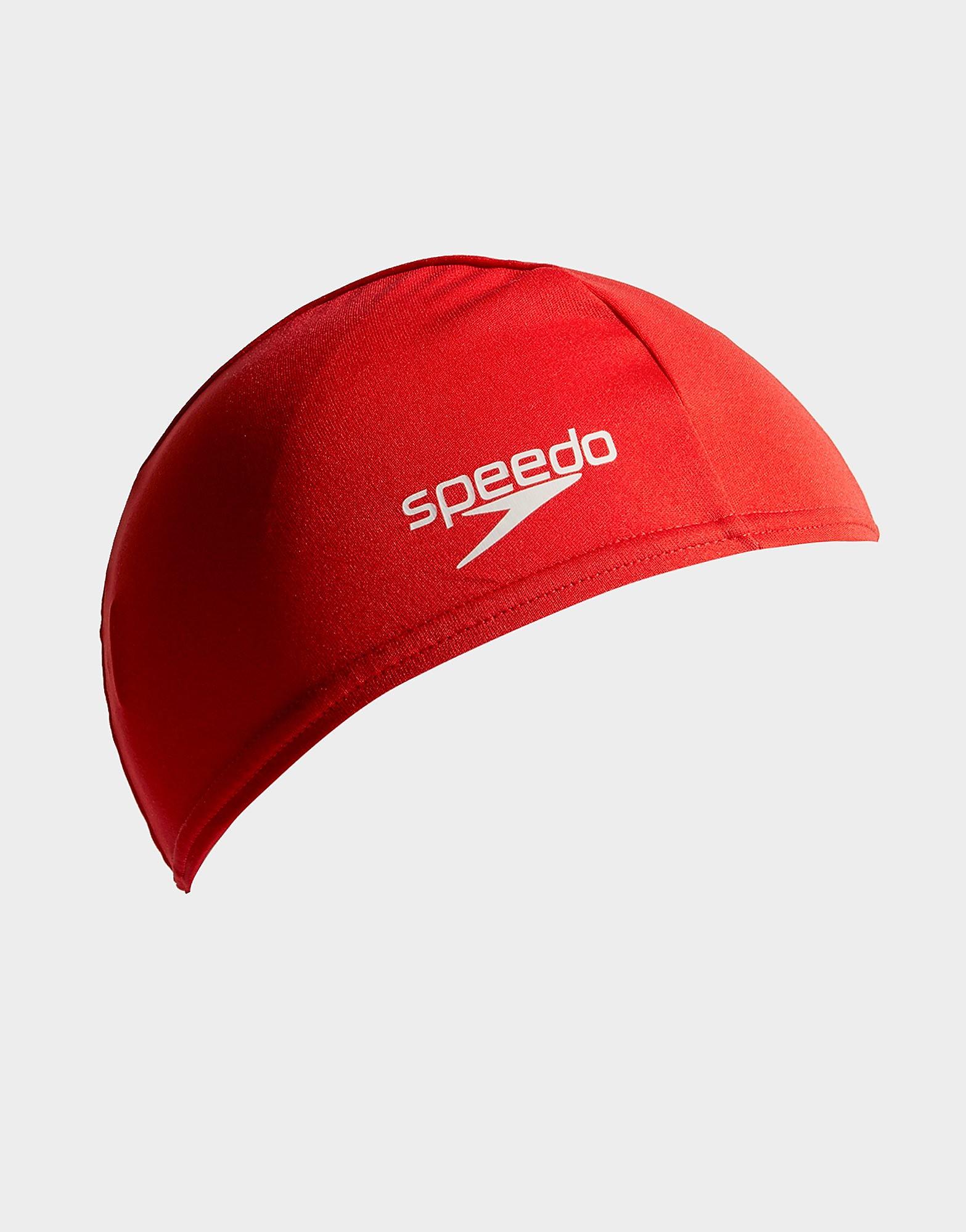 Speedo Plain Junior Swim Cap - Rood - Kind