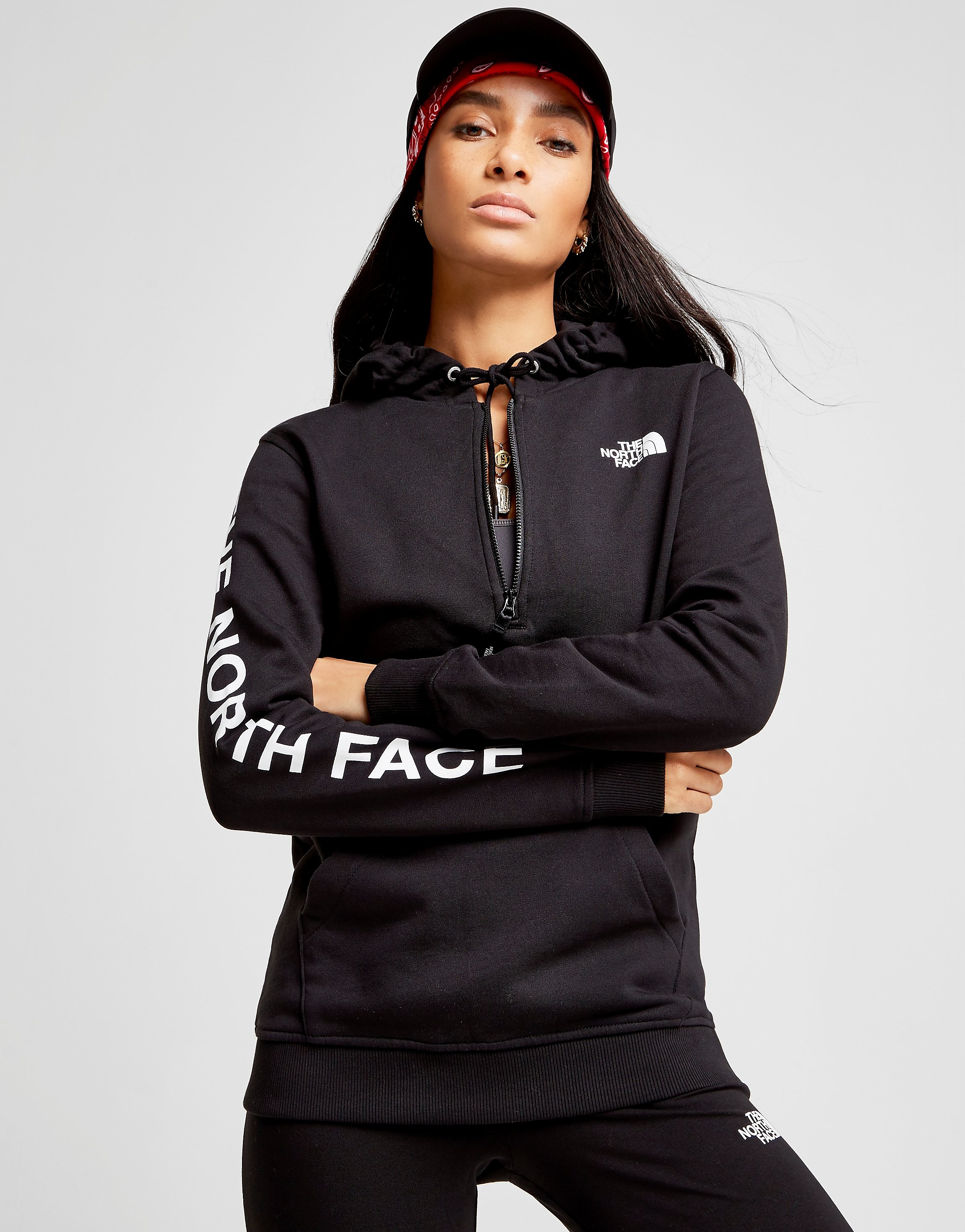 The North Face Logo 1/4 Zip Hoodie