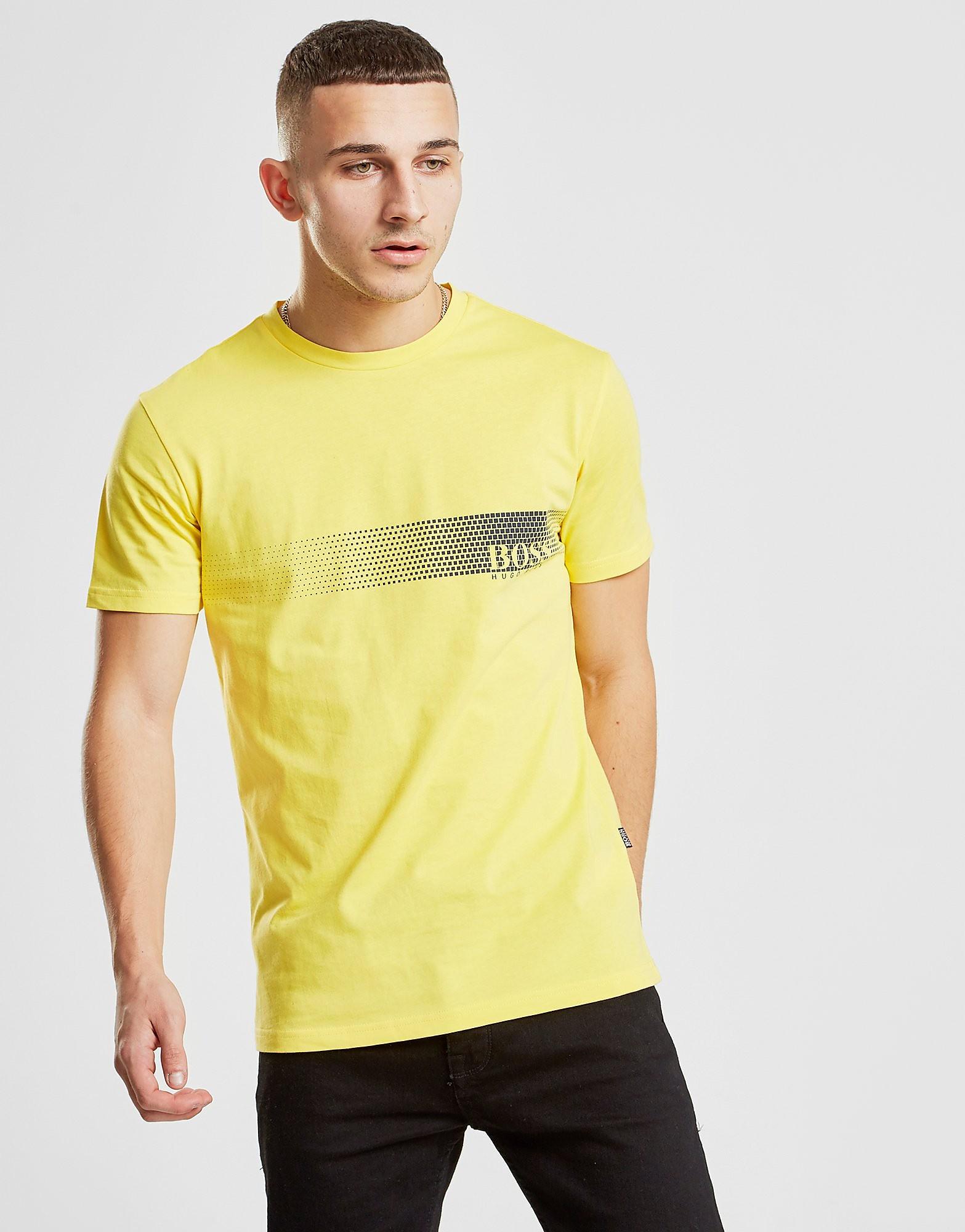 BOSS Chest Stripe T-Shirt - Geel - Heren