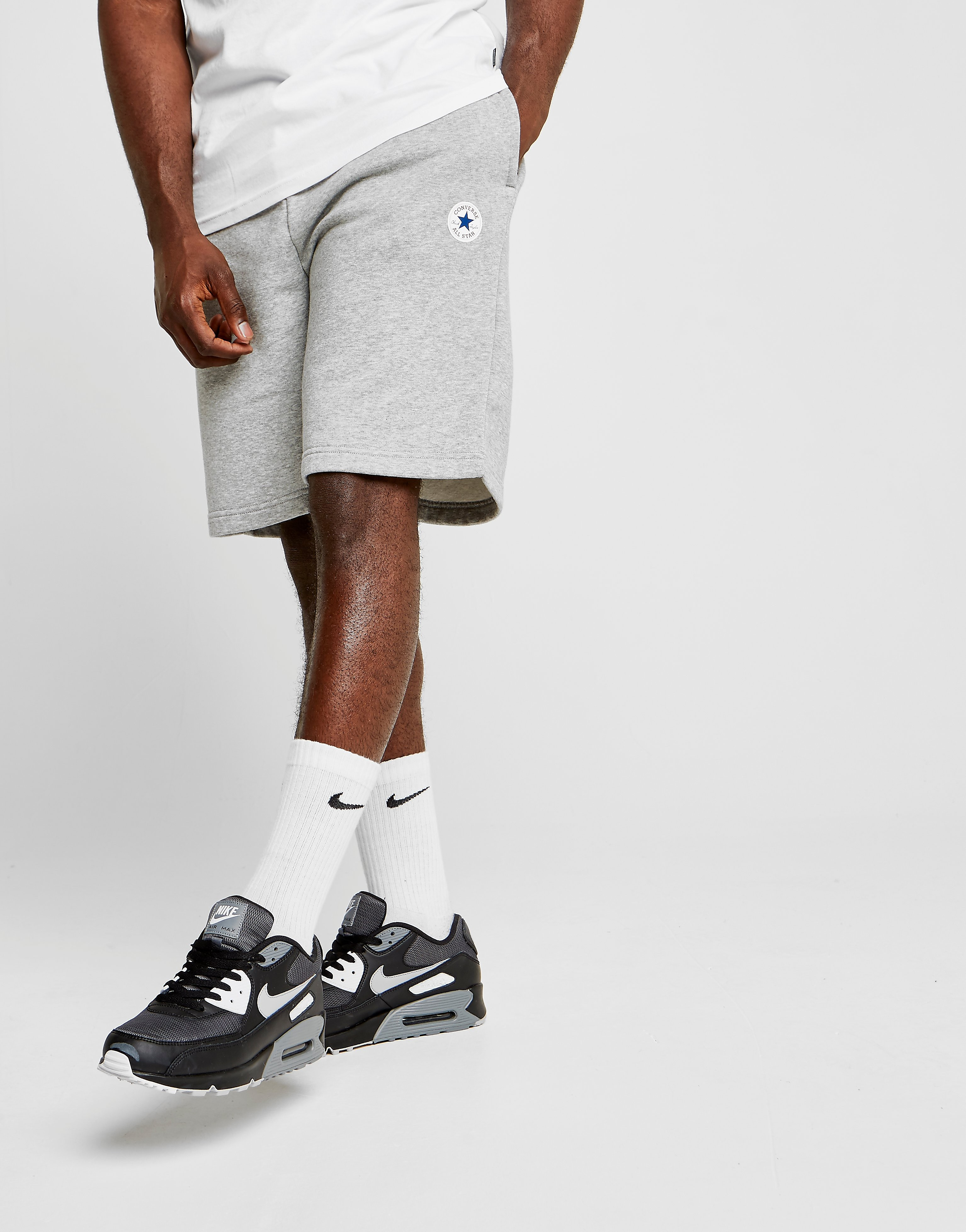 Converse Chuck Fleece Shorts Heren - Grijs - Heren