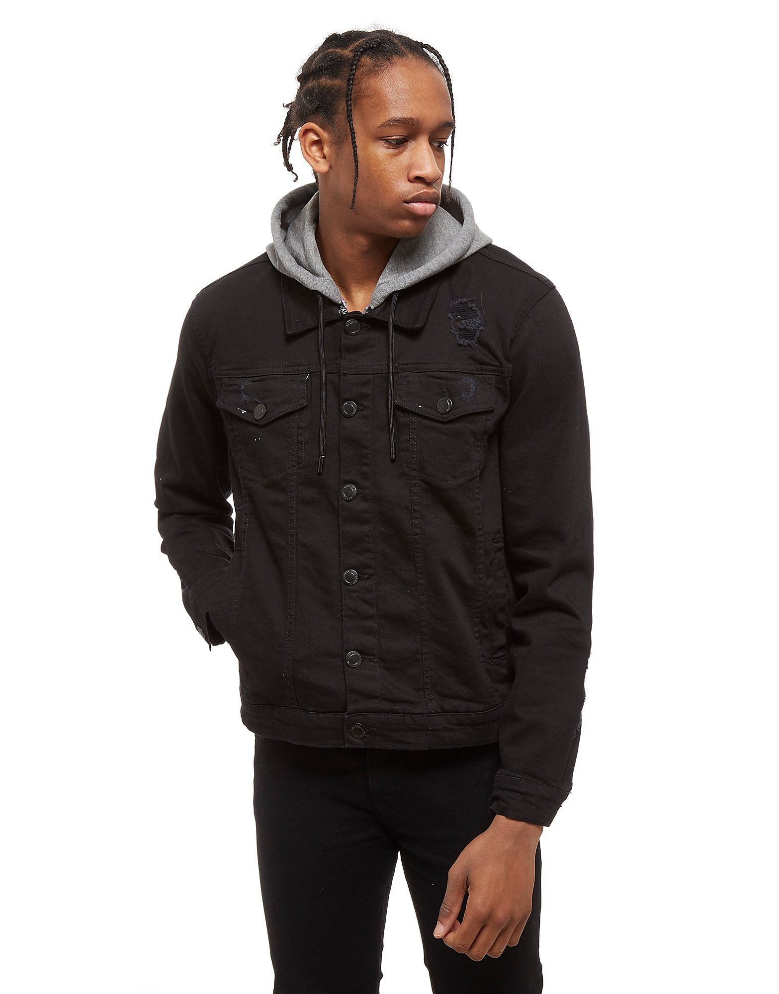 Supply & Demand Distressed Denim Jacket - Only at JD, Black
