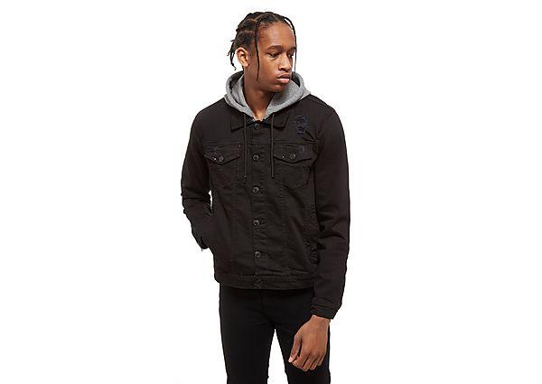 Supply & Demand Distressed Denim Jacket - Only at JD, Black