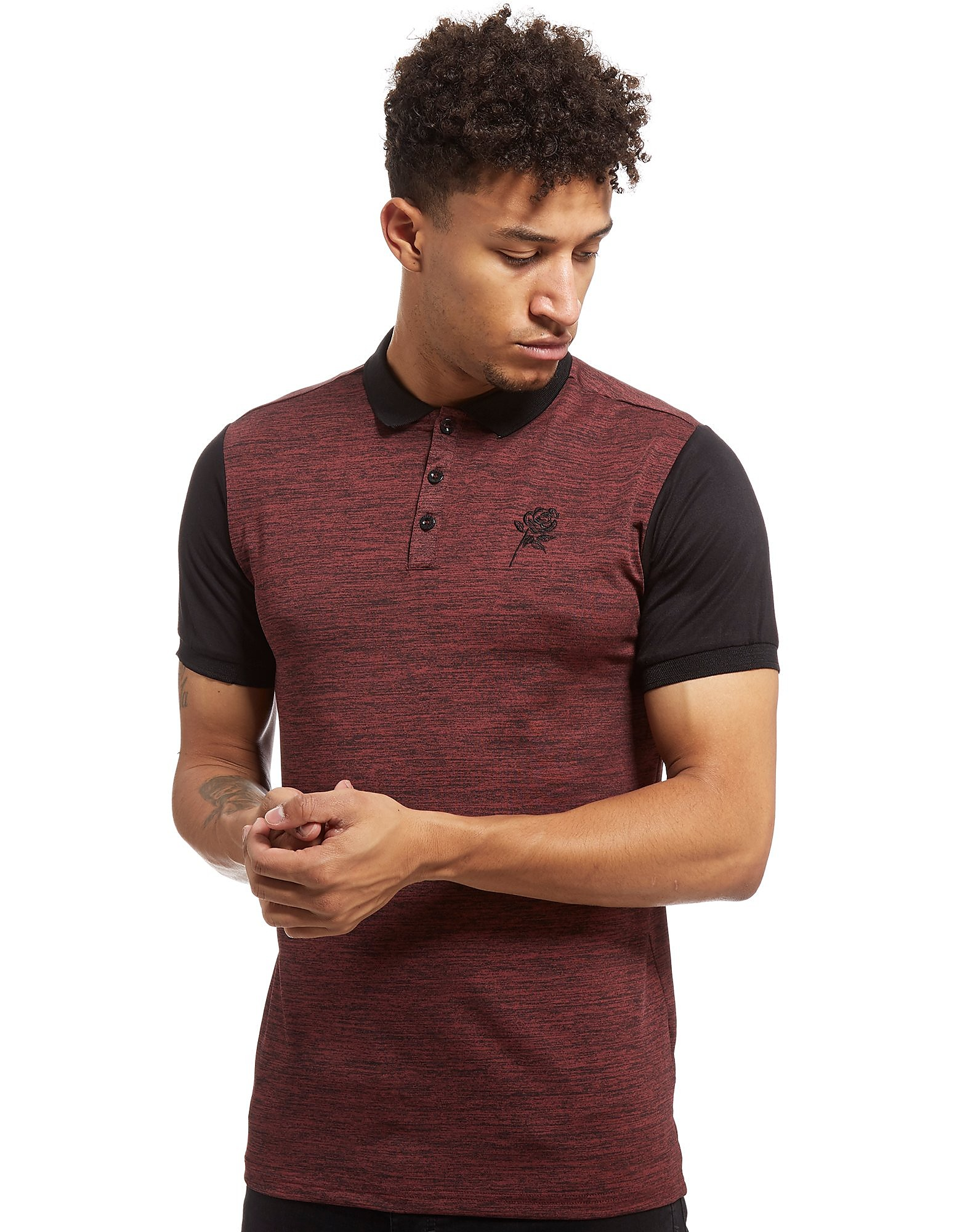 Supply & Demand Royal Polo Shirt - Only at JD, Burgundy/Black