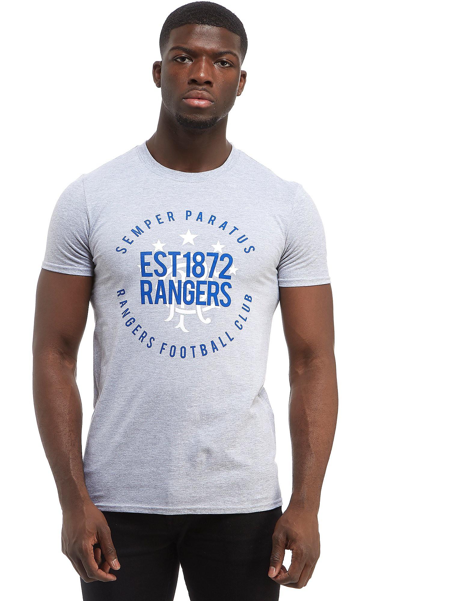 Official Team Rangers FC Established 1872 T-Shirt Heren - Grijs - Heren