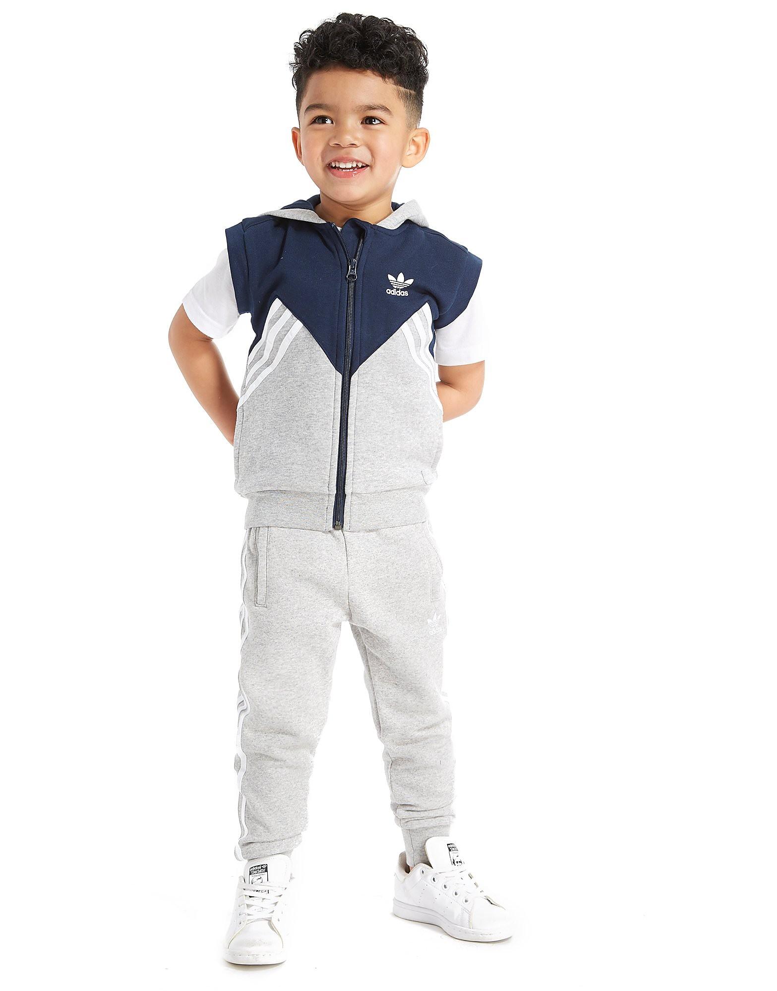 adidas Originals Sleeveless MOA Full Zip Hoodie Children - Grijs - Kind