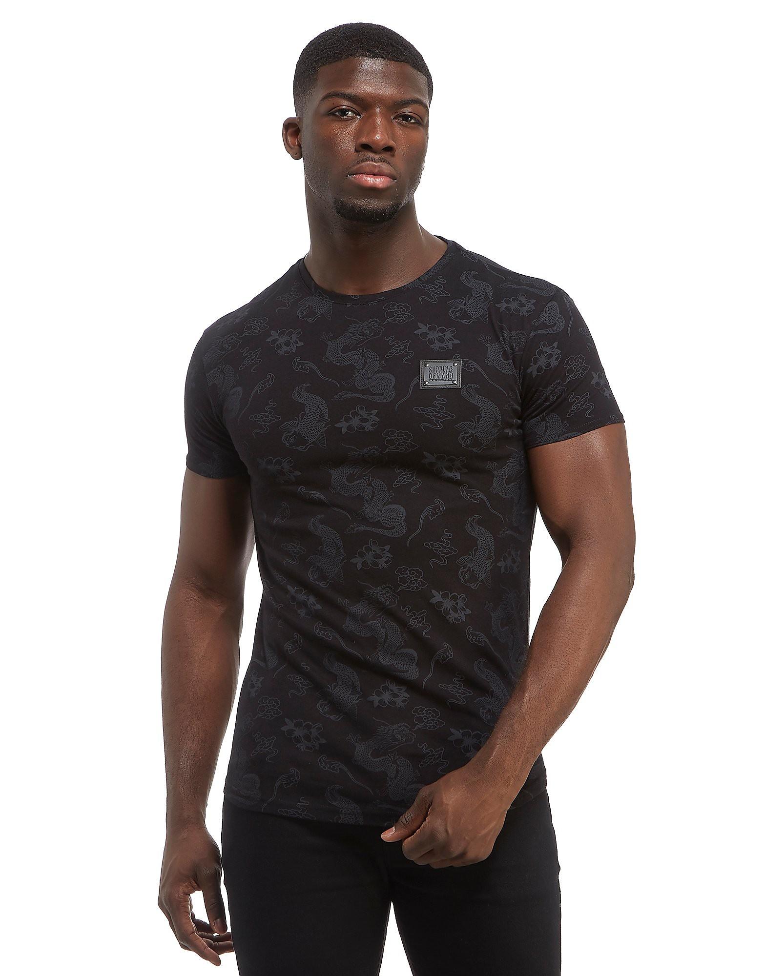 Supply & Demand Dragon T-Shirt - Only at JD, Black