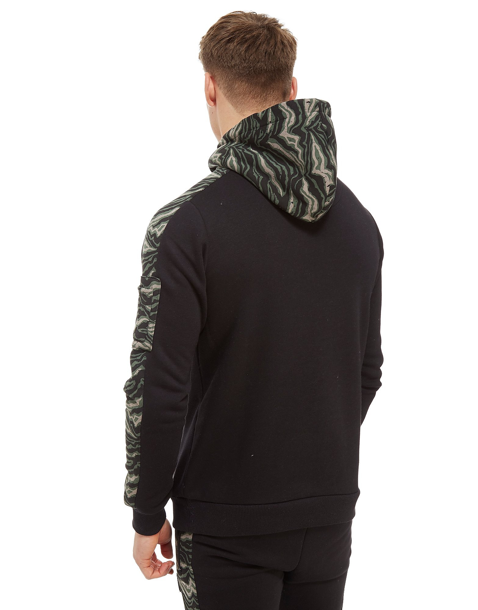 Supply & Demand Tiger Camo Half Zip Hoodie