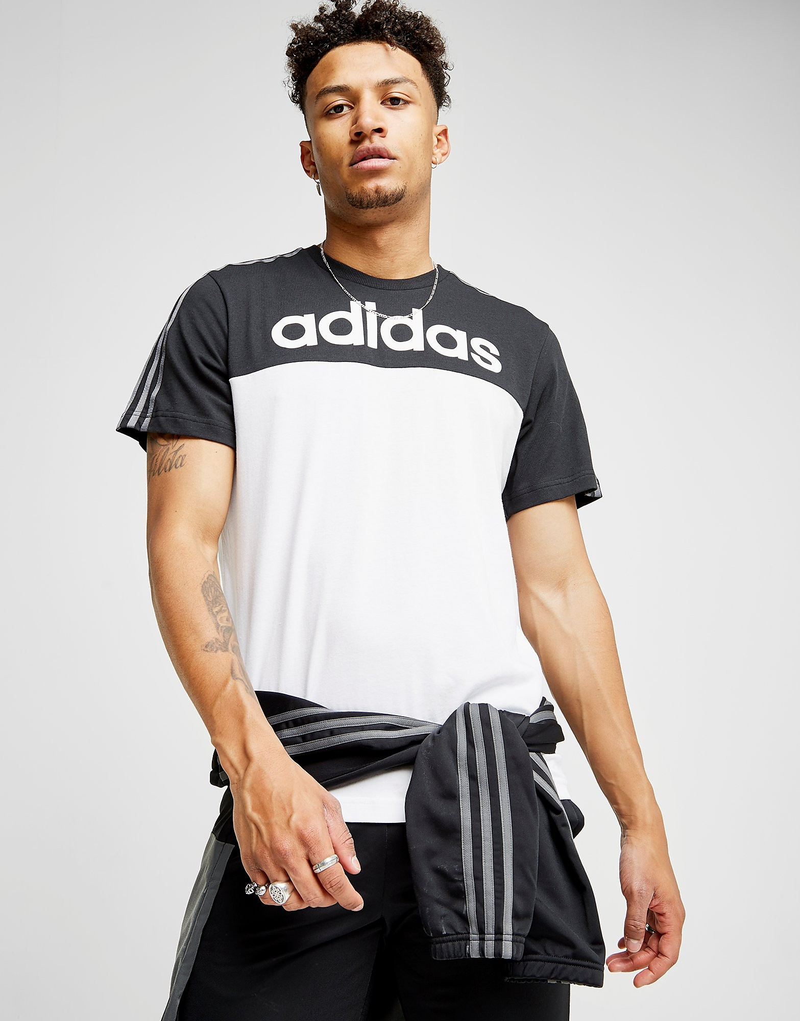 adidas Linear Colourblock T-Shirt