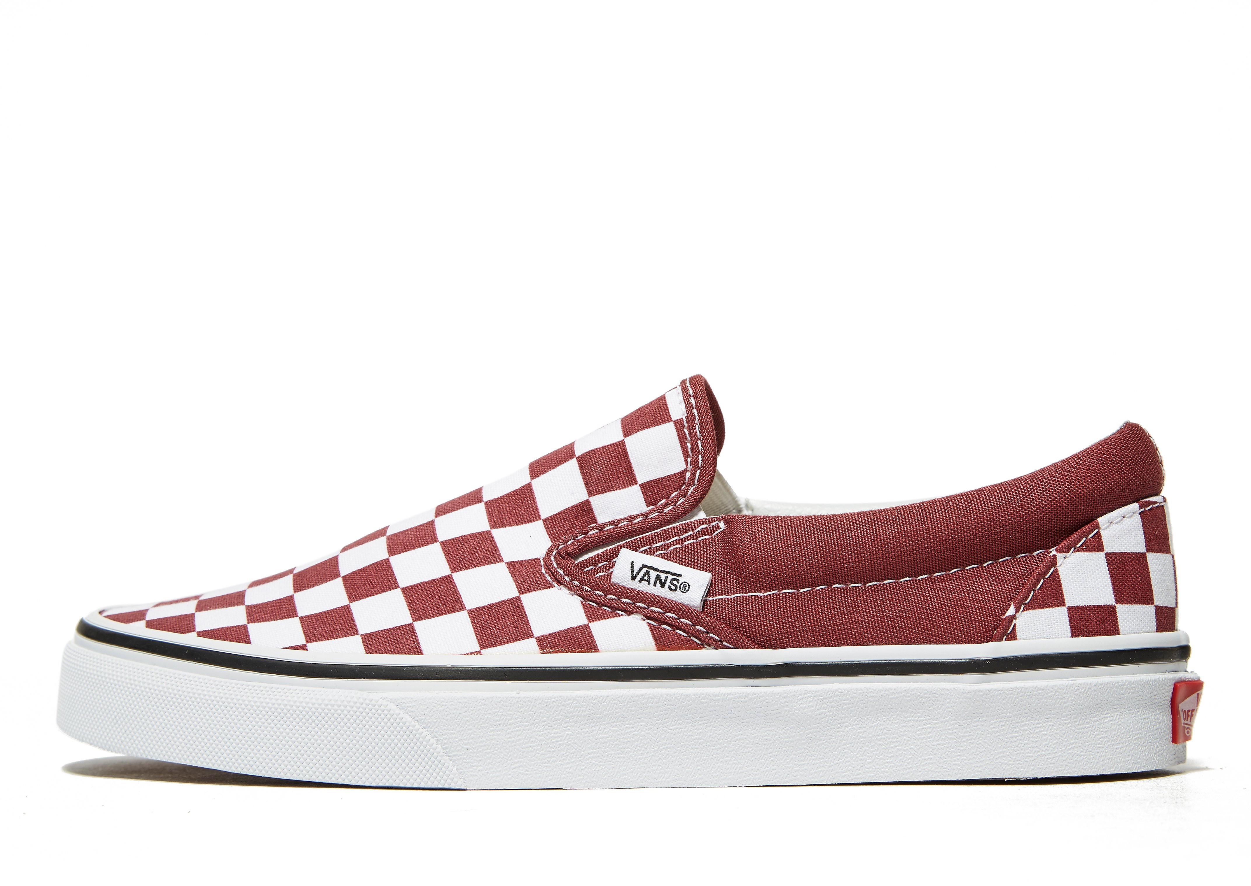 Vans Classic Slip On Damen Rot-Weiß