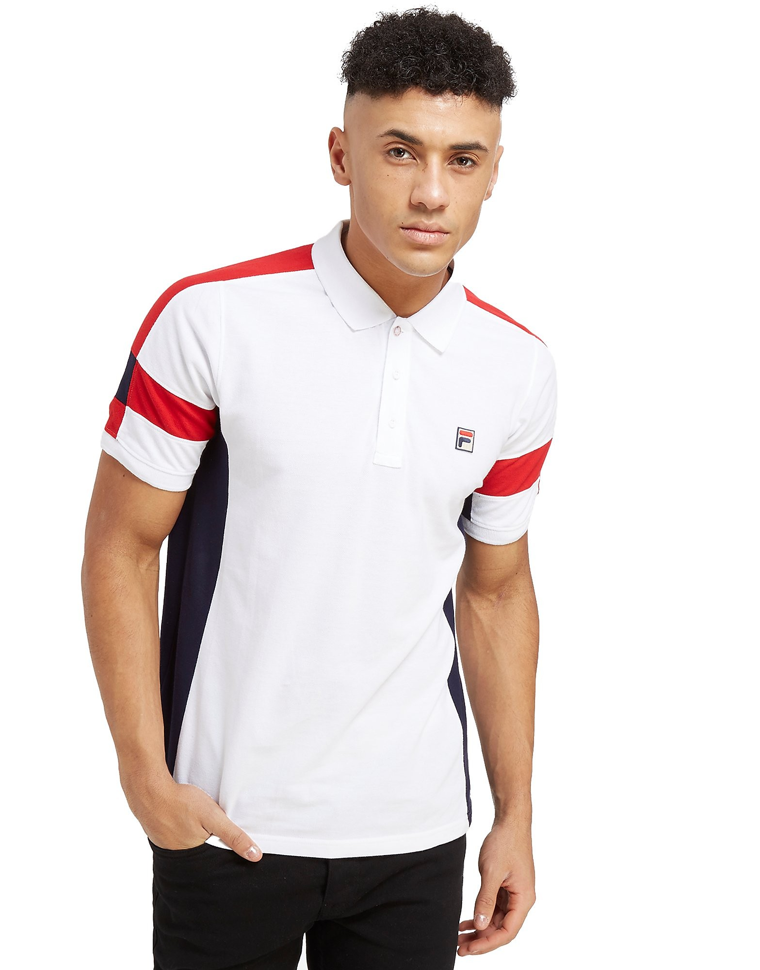 Fila Prago Colourblock Polo Shirt Homme