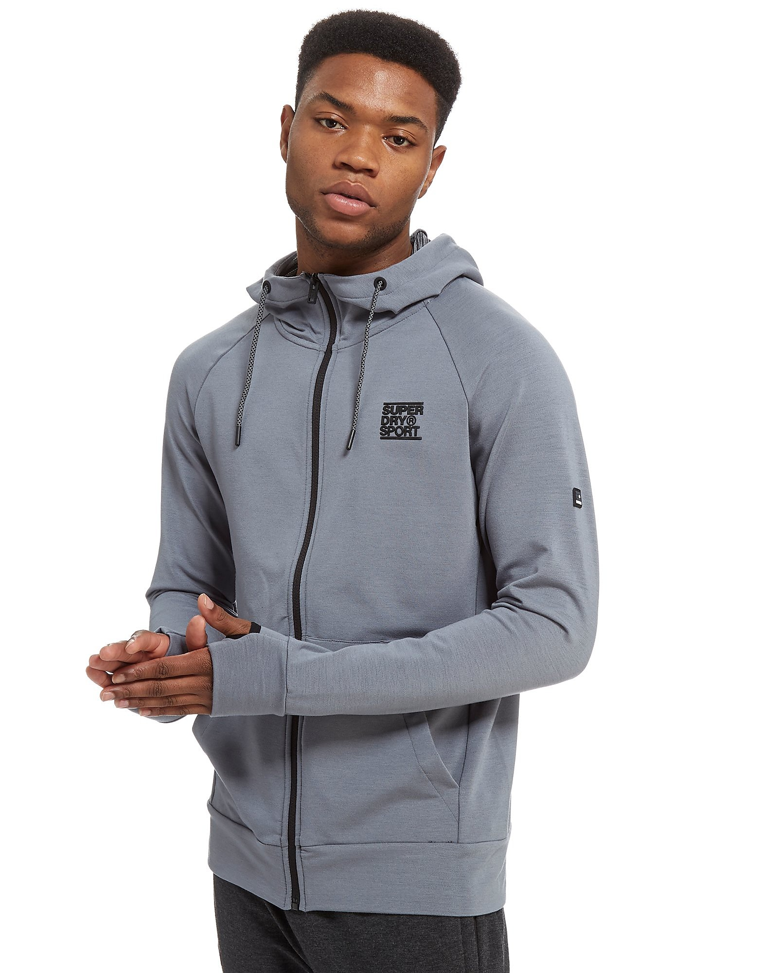 Superdry Sport Poly Zip Through Hoodie