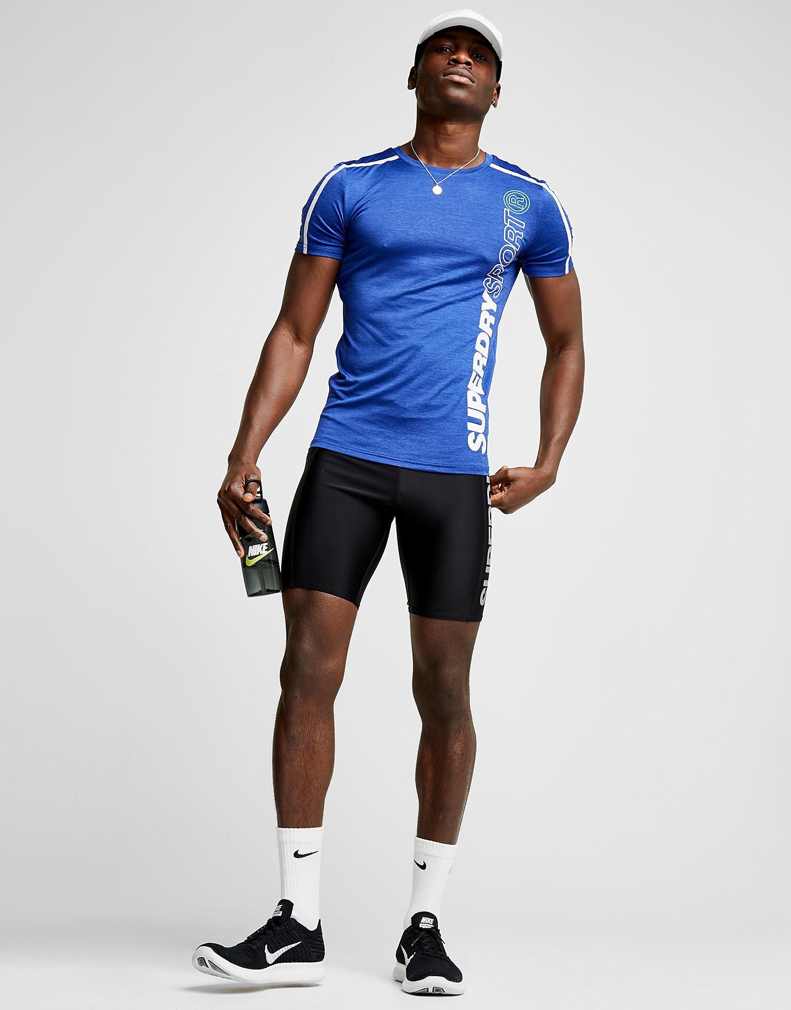 Superdry Sport Short Sleeve Poly Logo T-Shirt