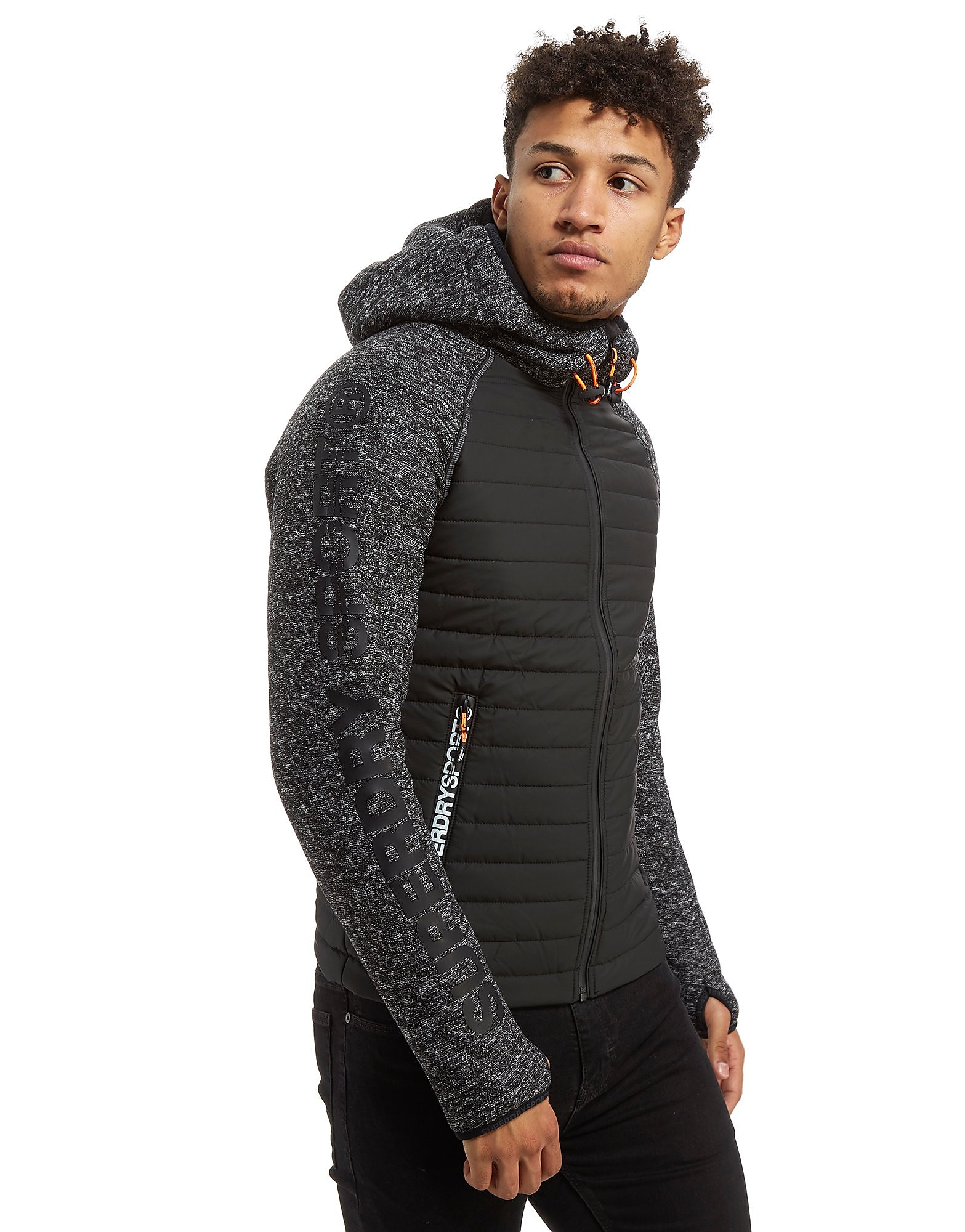 Superdry Sport Hybrid Zip Through Hoodie