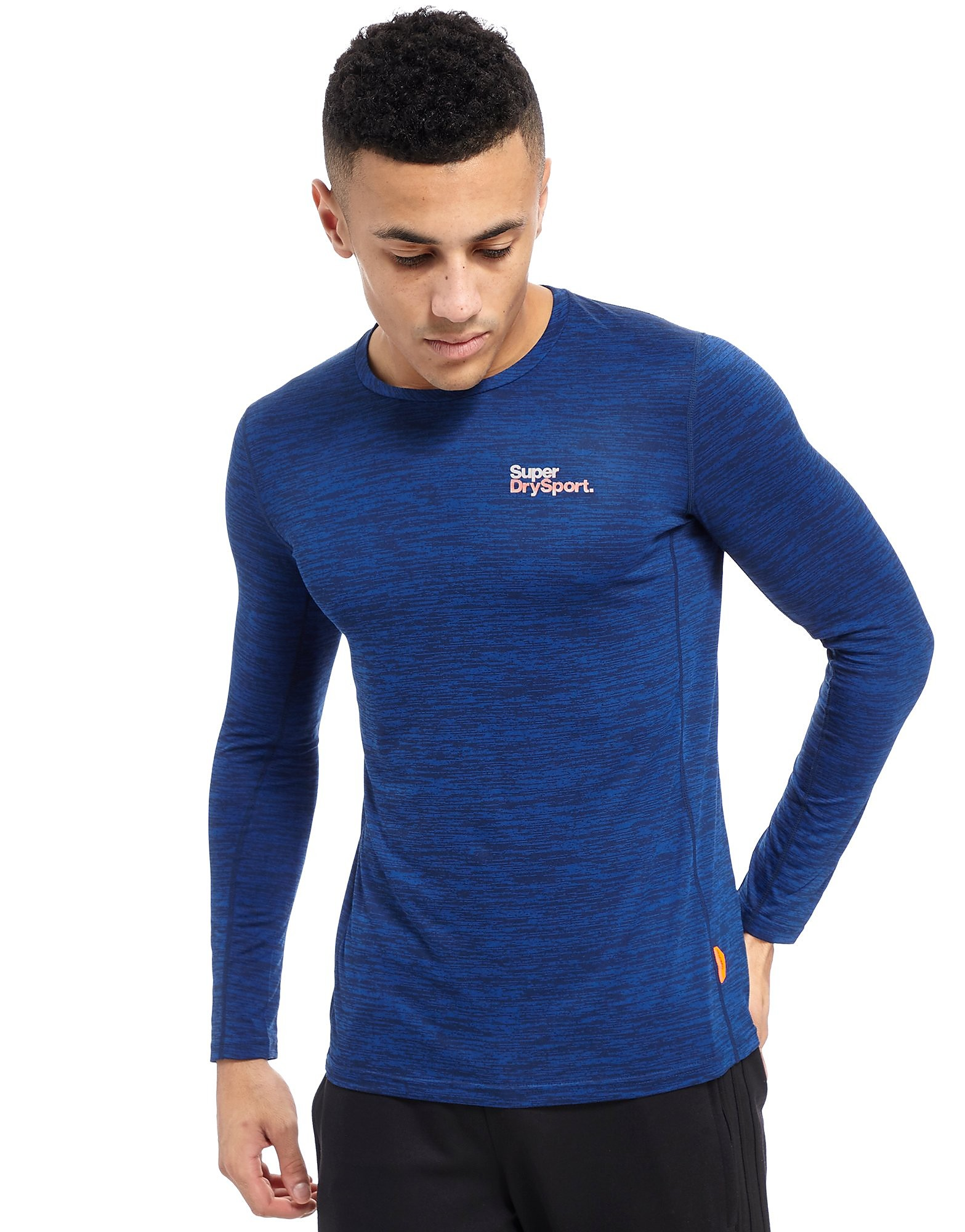 Superdry Sport Long Sleeve Poly Training Top Heren