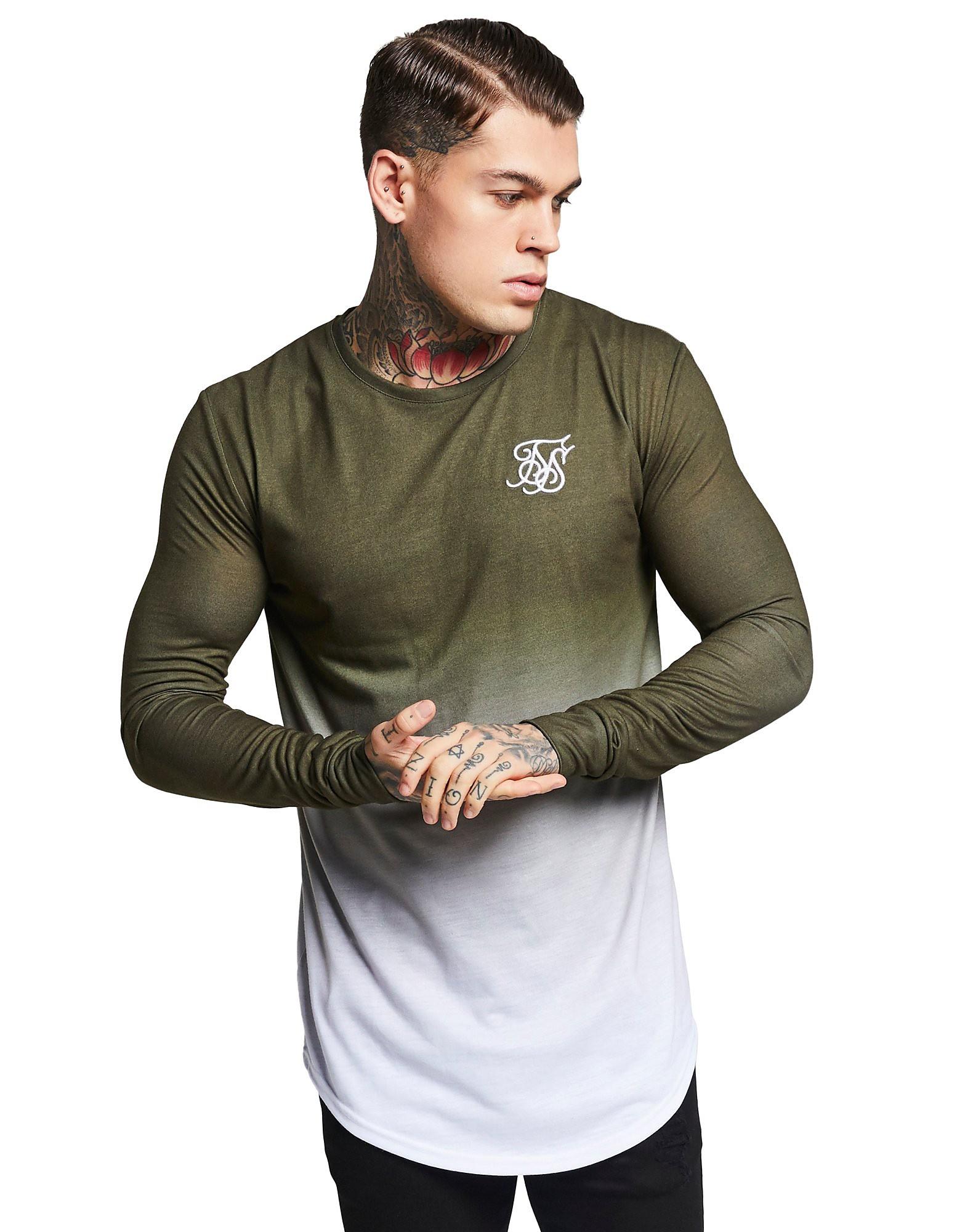 SikSilk camiseta de manga larga Fade