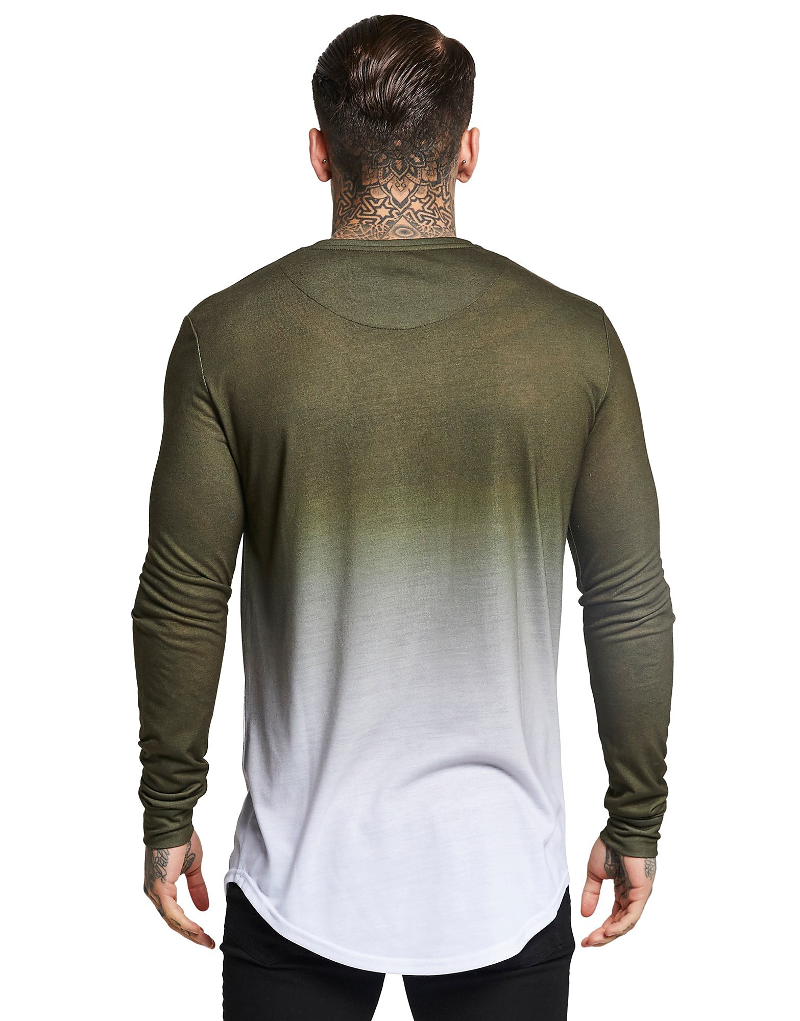SikSilk Long Sleeve Fade T-Shirt