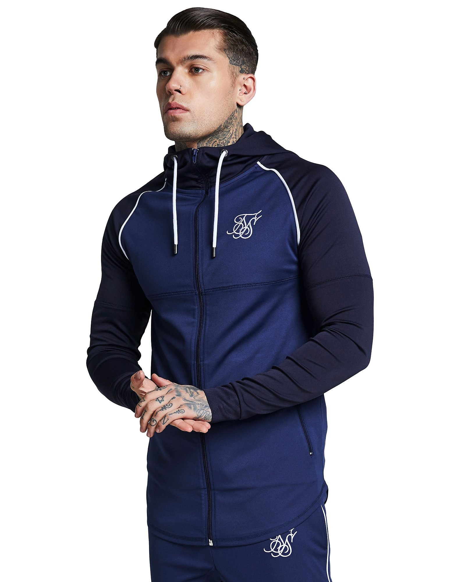 SikSilk Zonal Zip Through Hoodie