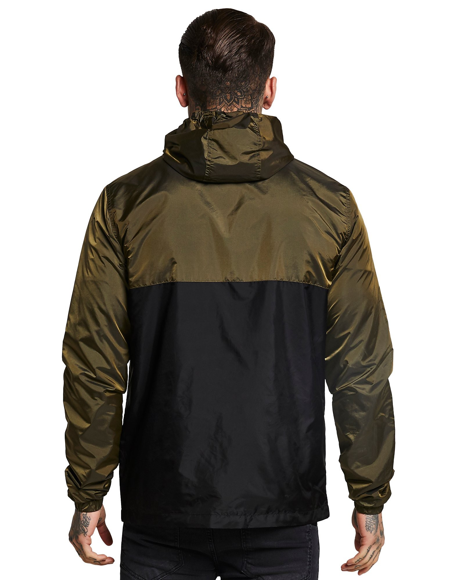 SikSilk Zip Colourblock Hooded Jacket