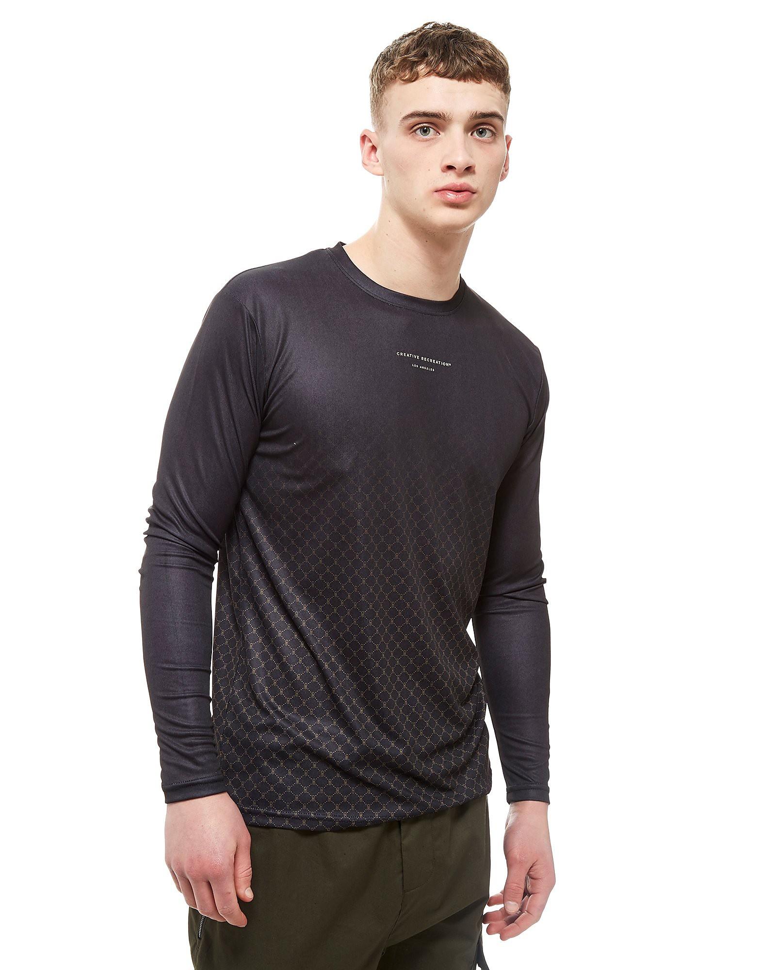 Creative Recreation House Pattern Ombre Long Sleeve T-Shirt Heren - Zwart - Heren