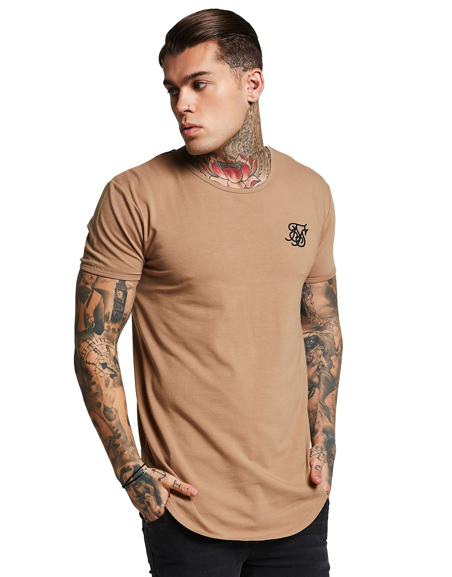 SikSilk  T-Shirt Core Curve Homme - Only at JD - Stone, Stone