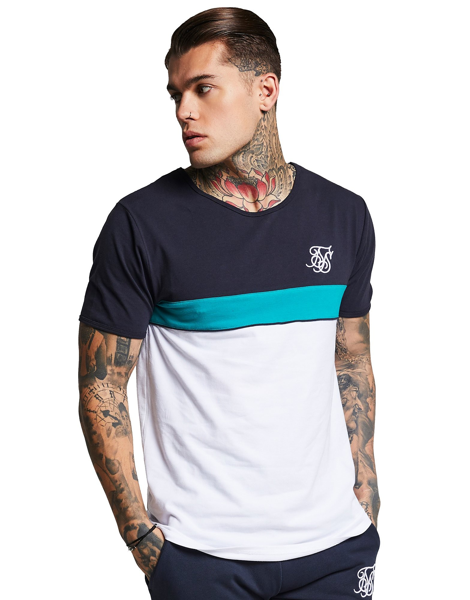SikSilk camiseta Colourblock Sport