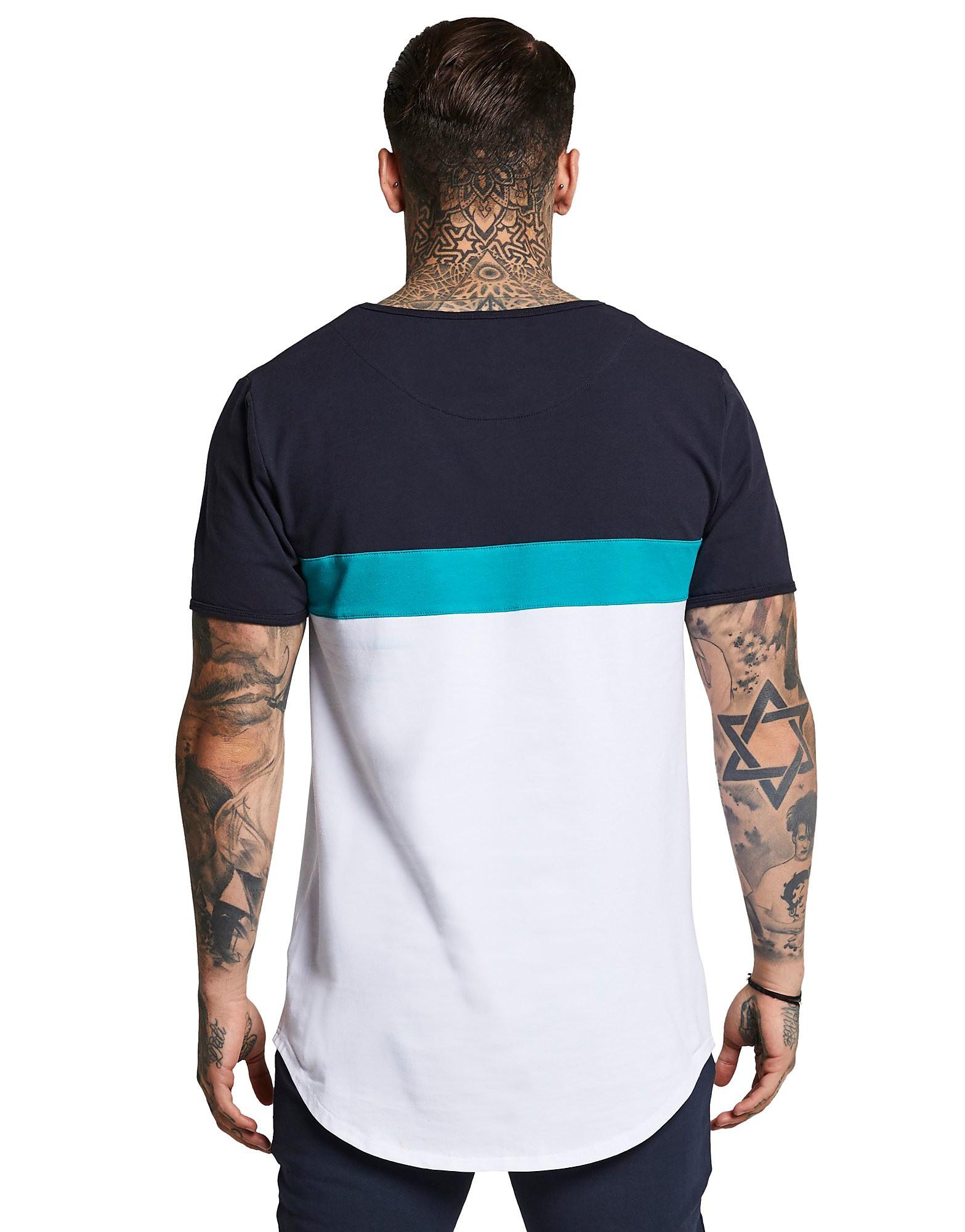 SikSilk camiseta Colourblock Sport