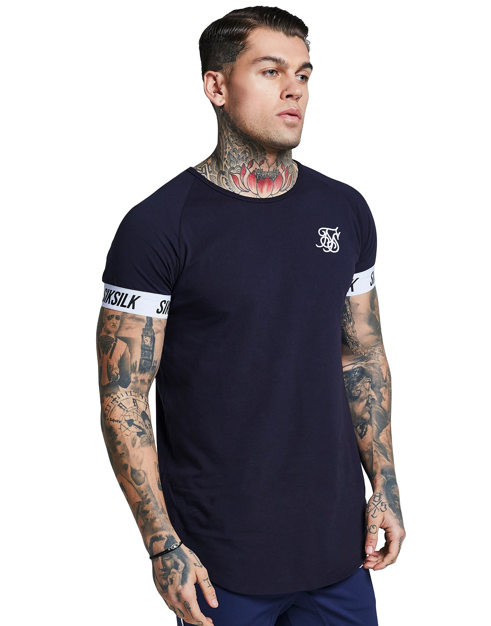 SikSilk Short Sleeve Tape Raglan T-Shirt