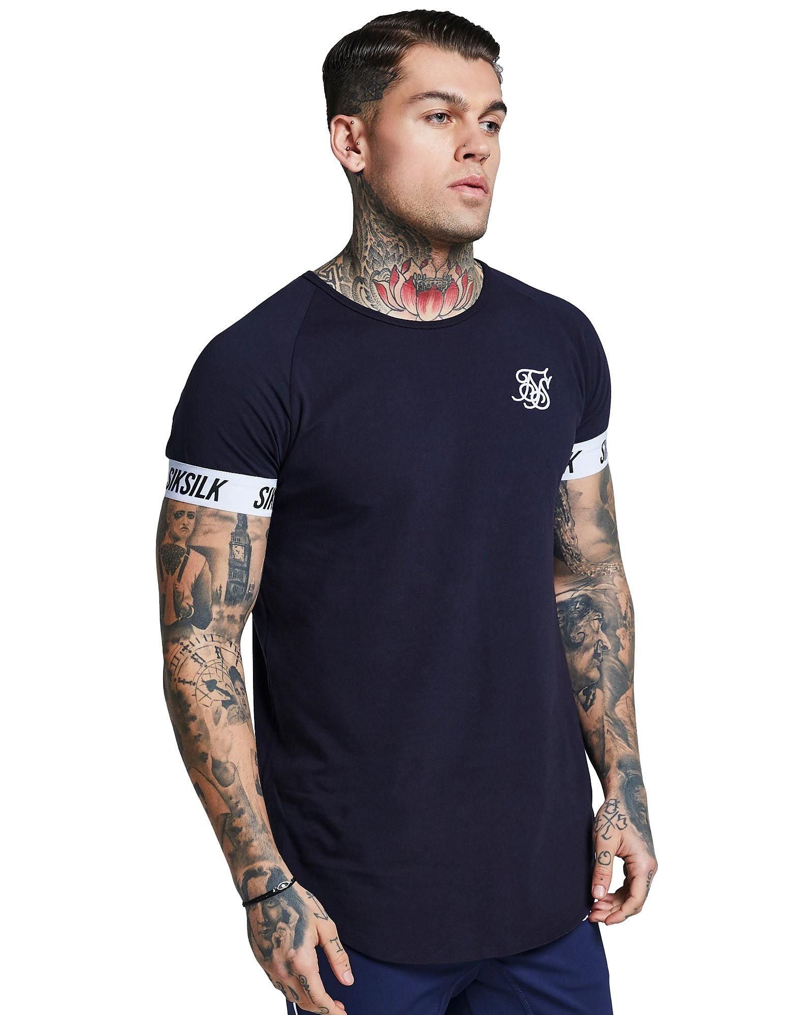 SikSilk camiseta de manga corta Tape Raglan