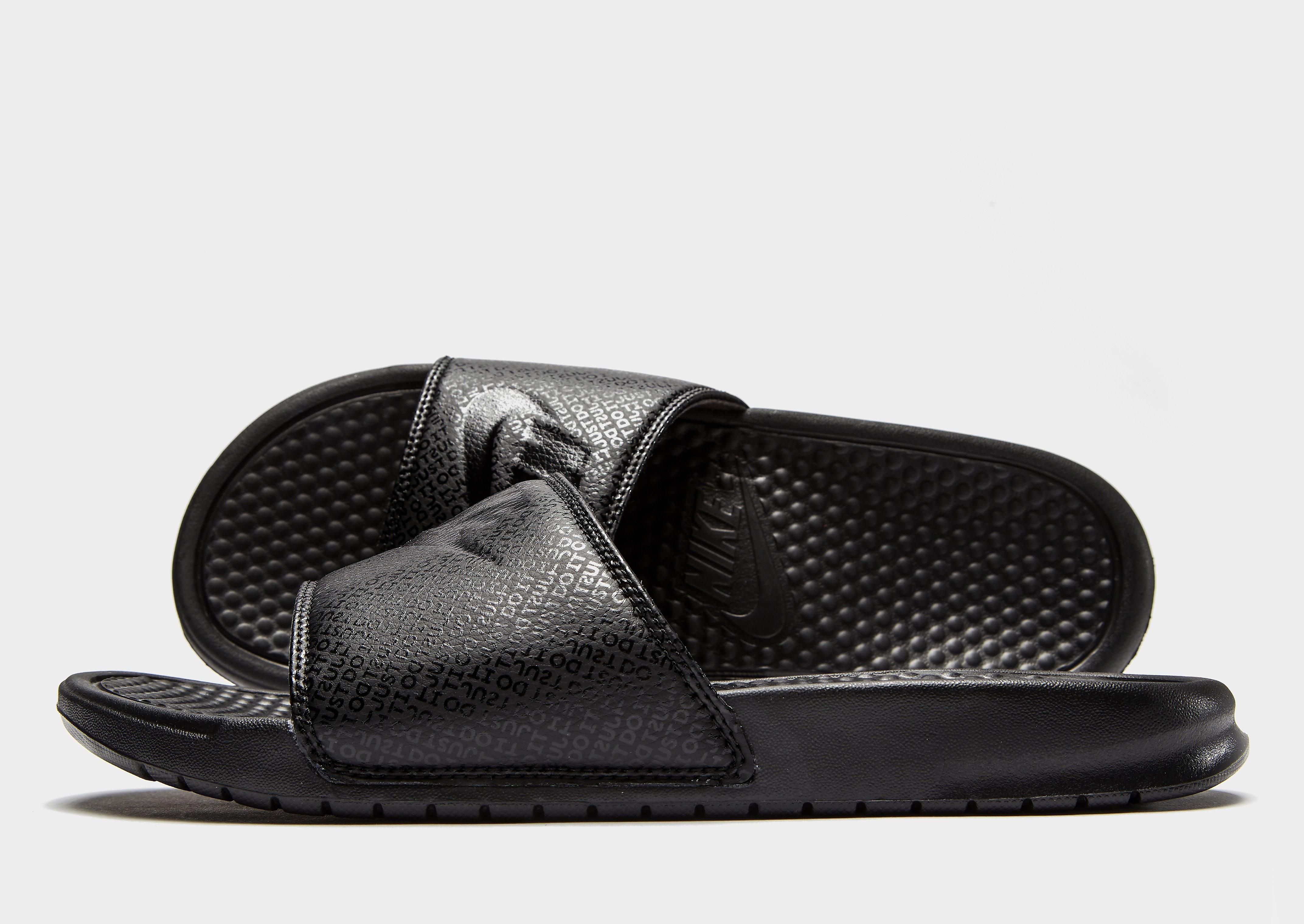 Nike Benassi Slides Heren Zwart Heren