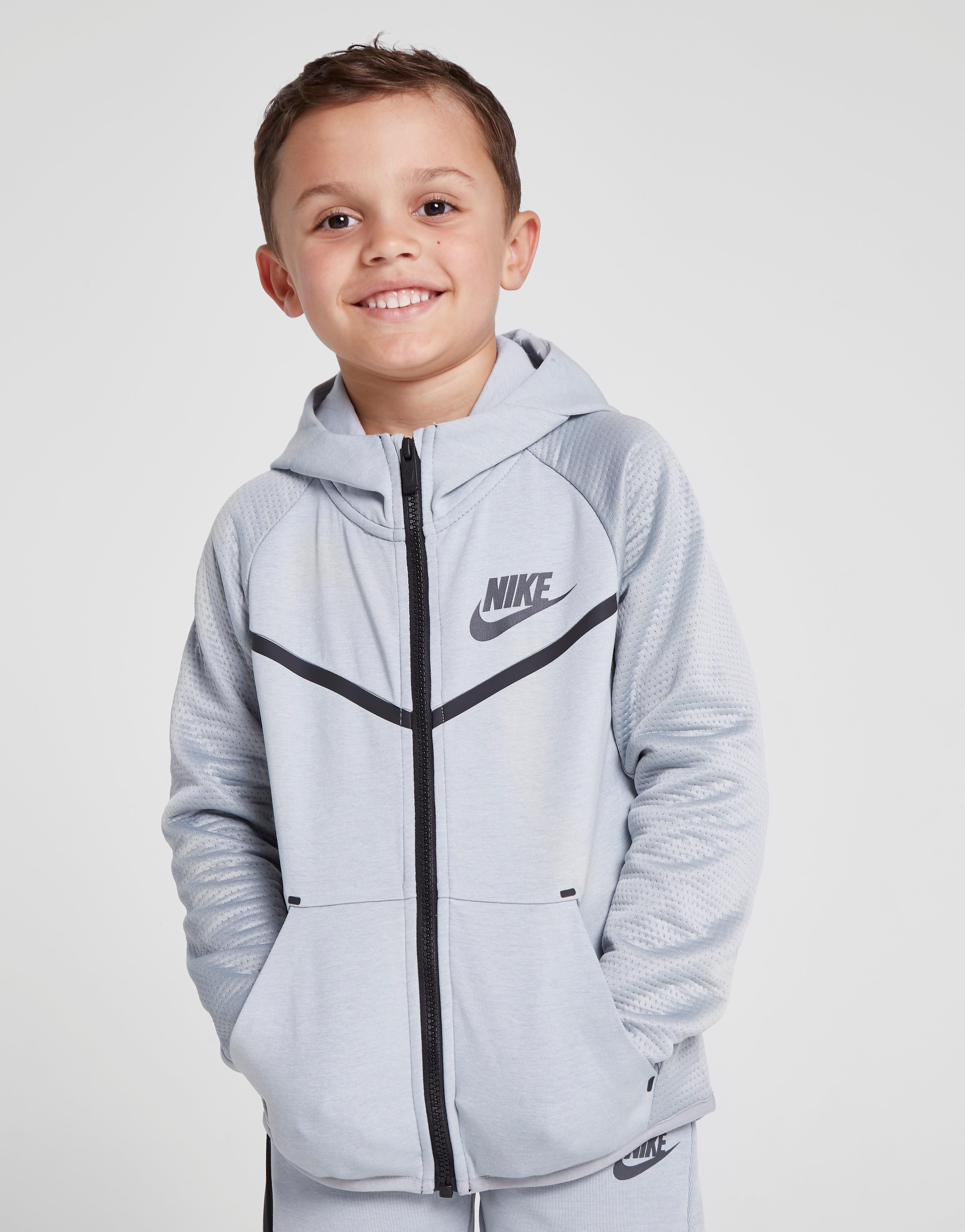 Nike Tech Full Zip Hoodie Kinderen - Grijs - Kind