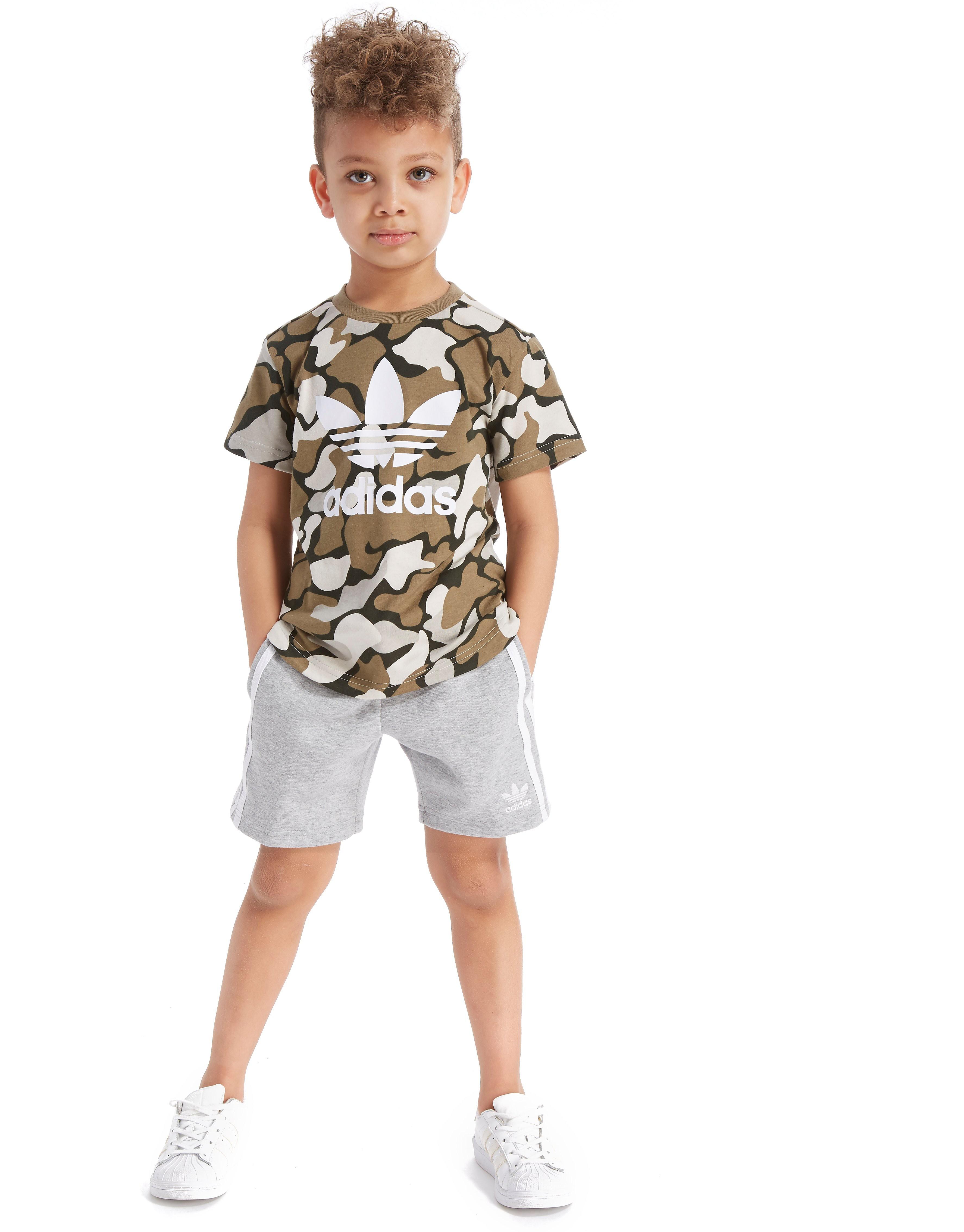 adidas Originals Camo T-Shirt/Shorts Set Kinderen - alleen bij JD - Camo/Grey - Kind