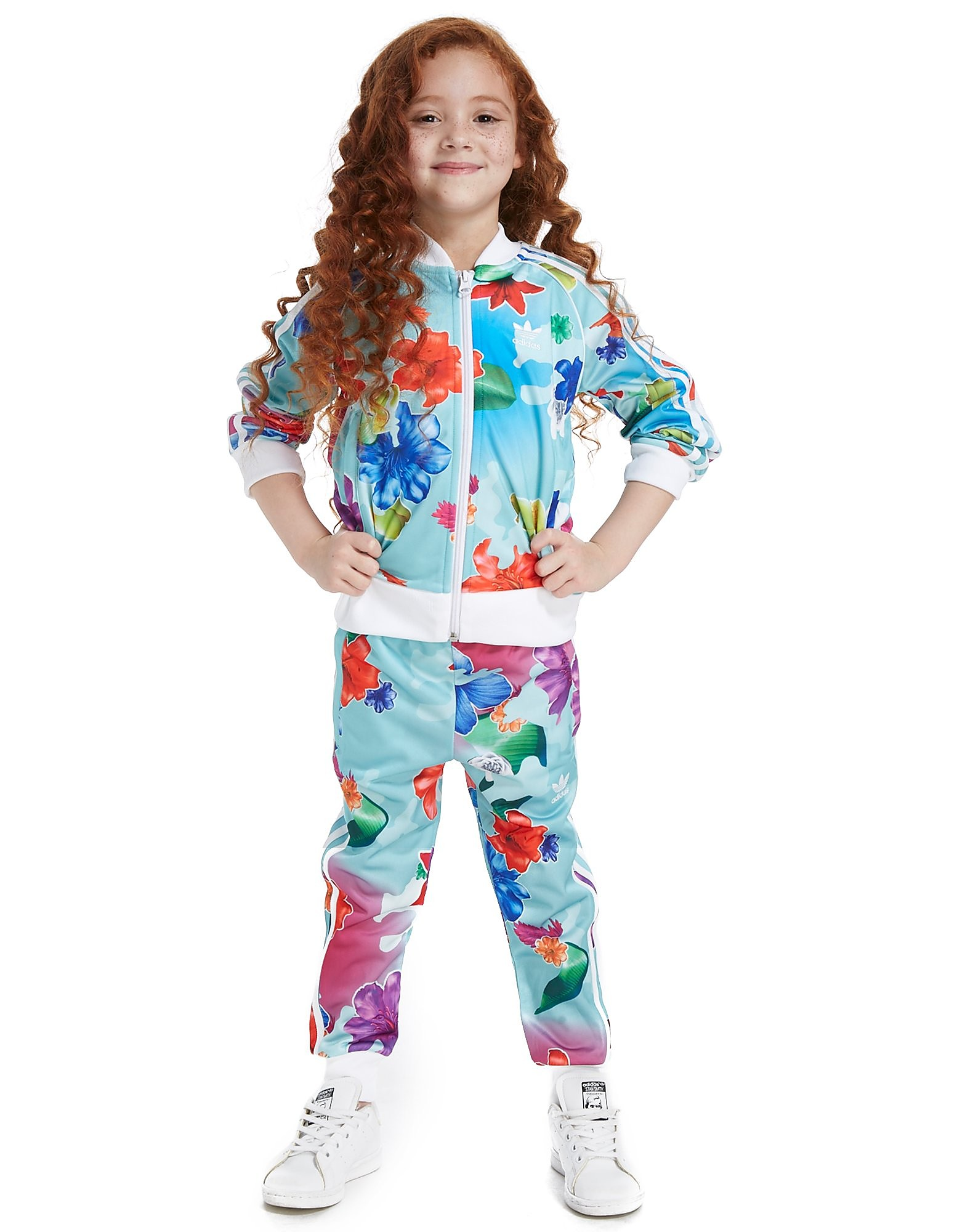 adidas Originals Girls' All Over Print Floral Superstar Suit Kinderen