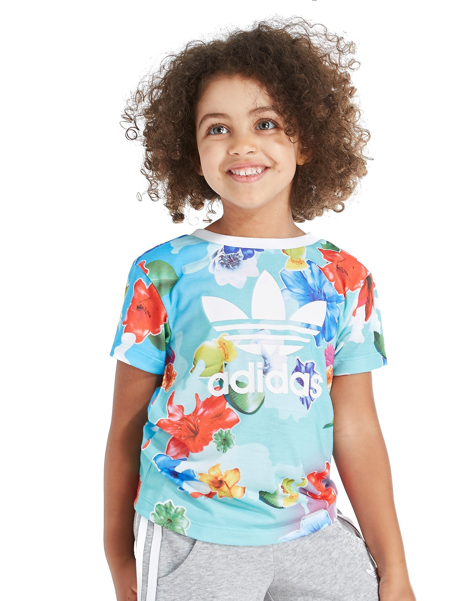 adidas Originals Girls' All Over Print T-Shirt & Short Set Children
