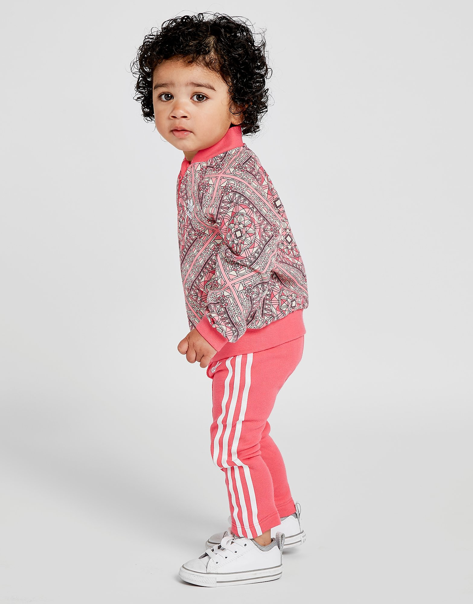 adidas Originals Girls' All Over Print Superstar Tracksuit Baby's - Roze - Kind