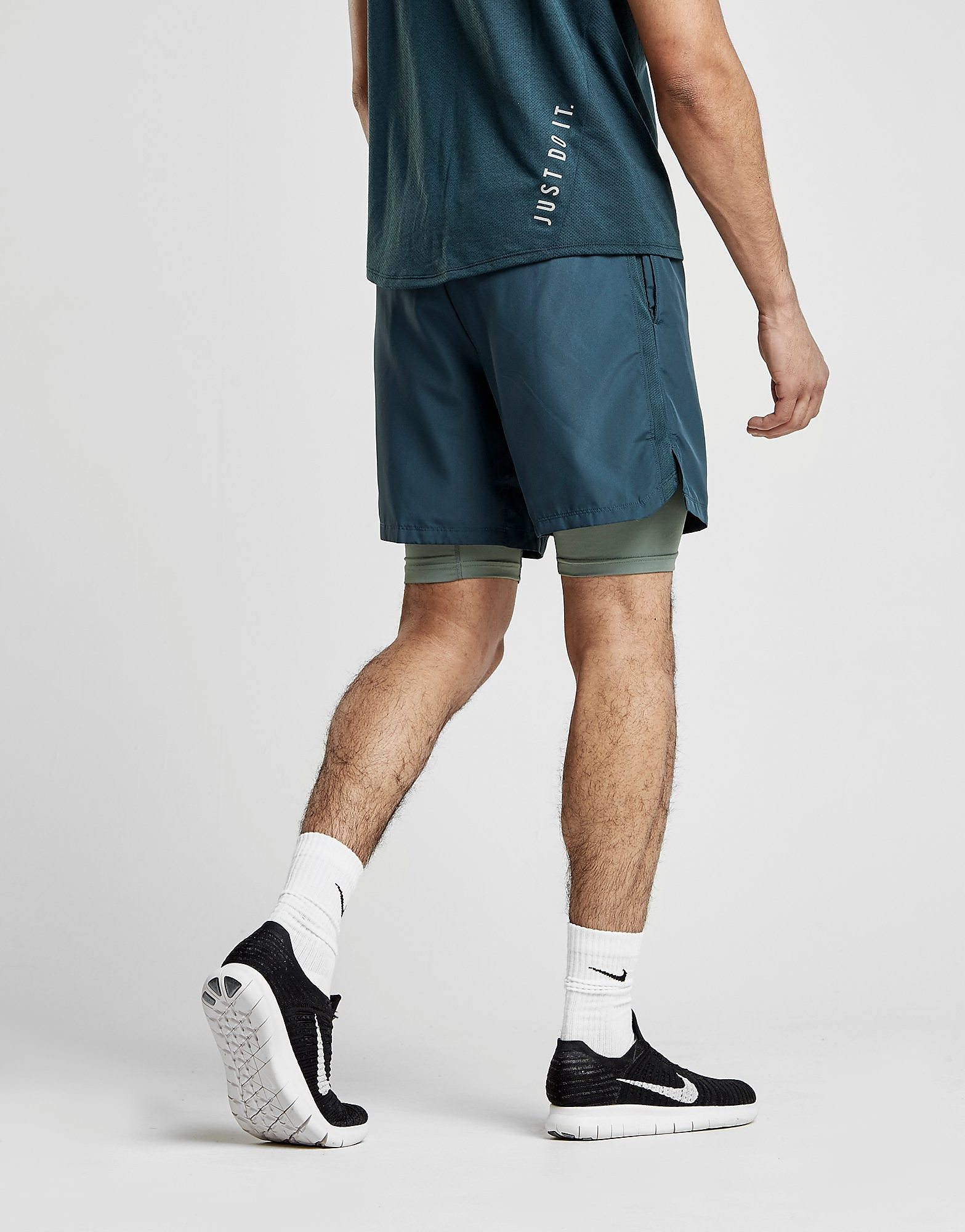 """Nike 7"""" Challenger 2 in 1 Shorts"""