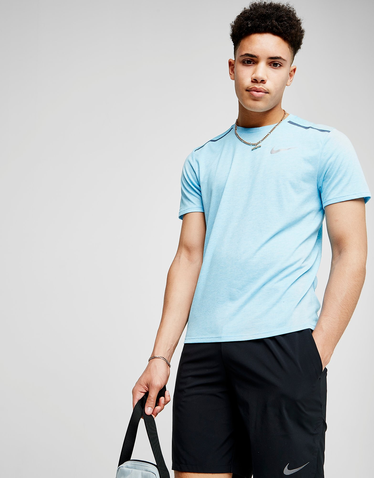Nike Breathe Rise Short Sleeve T-Shirt Heren - Blauw - Heren