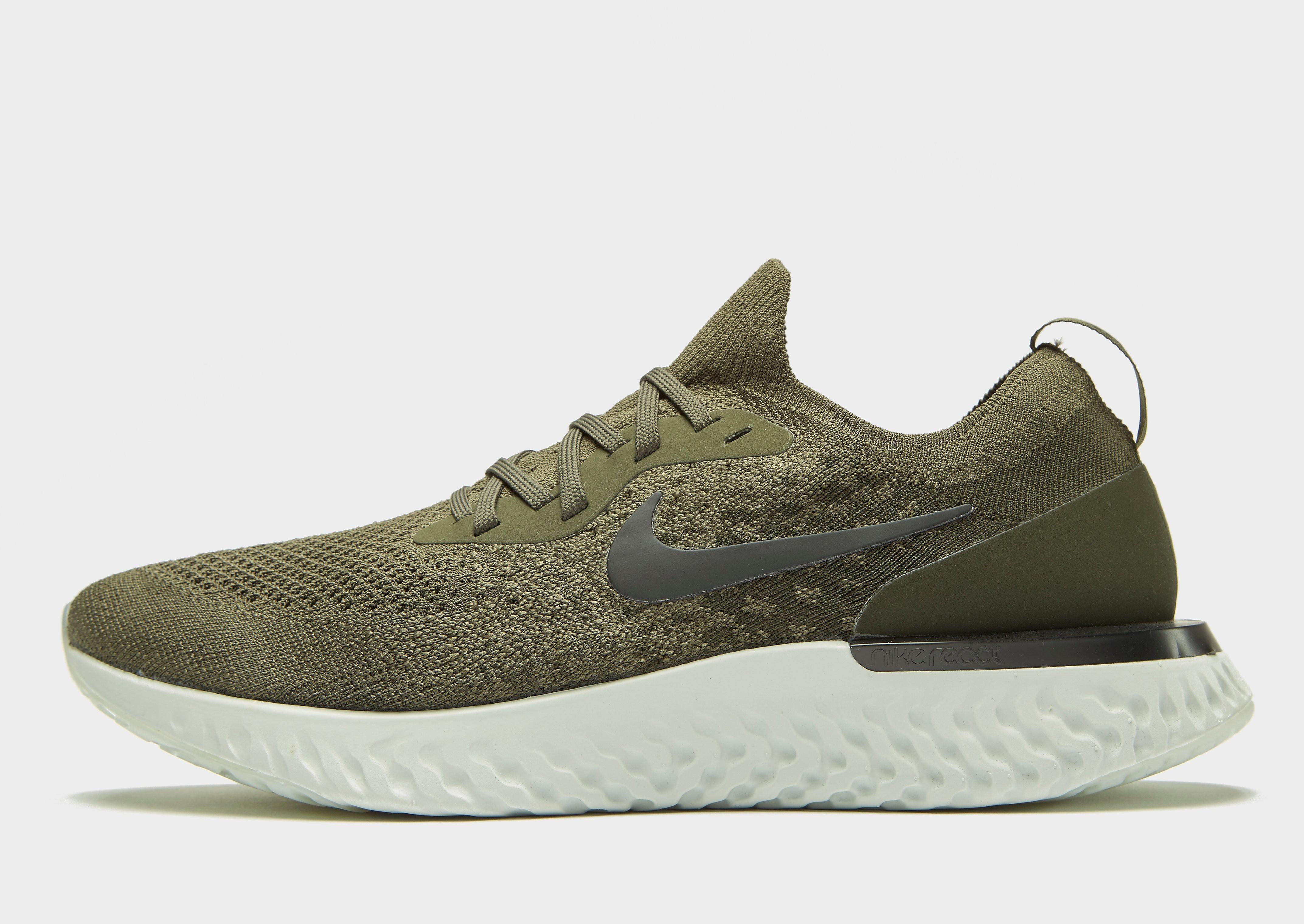Nike Epic React Flyknit Heren - Khaki - Heren