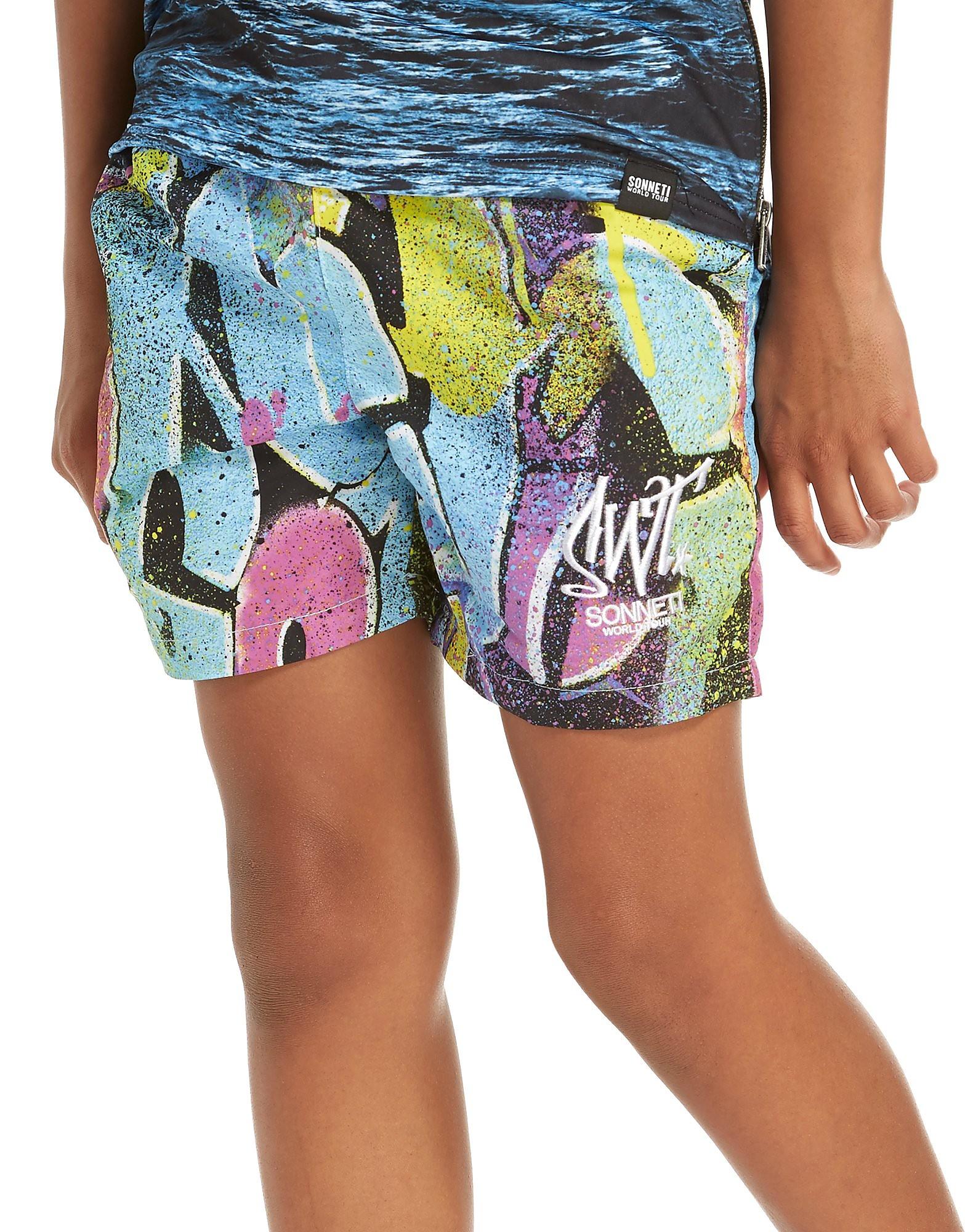 Sonneti Signer Swim Shorts Junior - alleen bij JD - Multi-Coloured - Kind