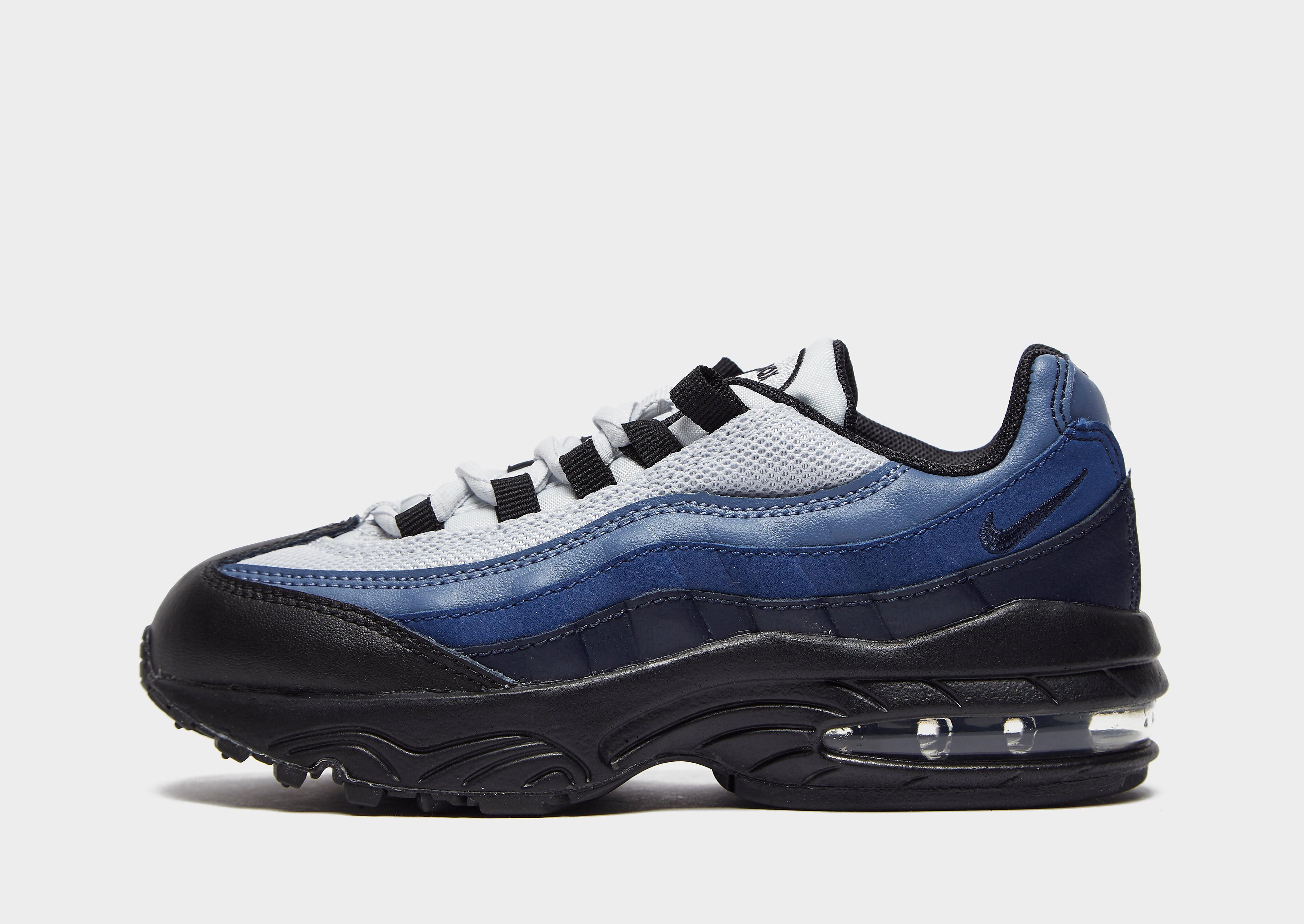 Nike Air Max 95 kindersneaker zwart en blauw
