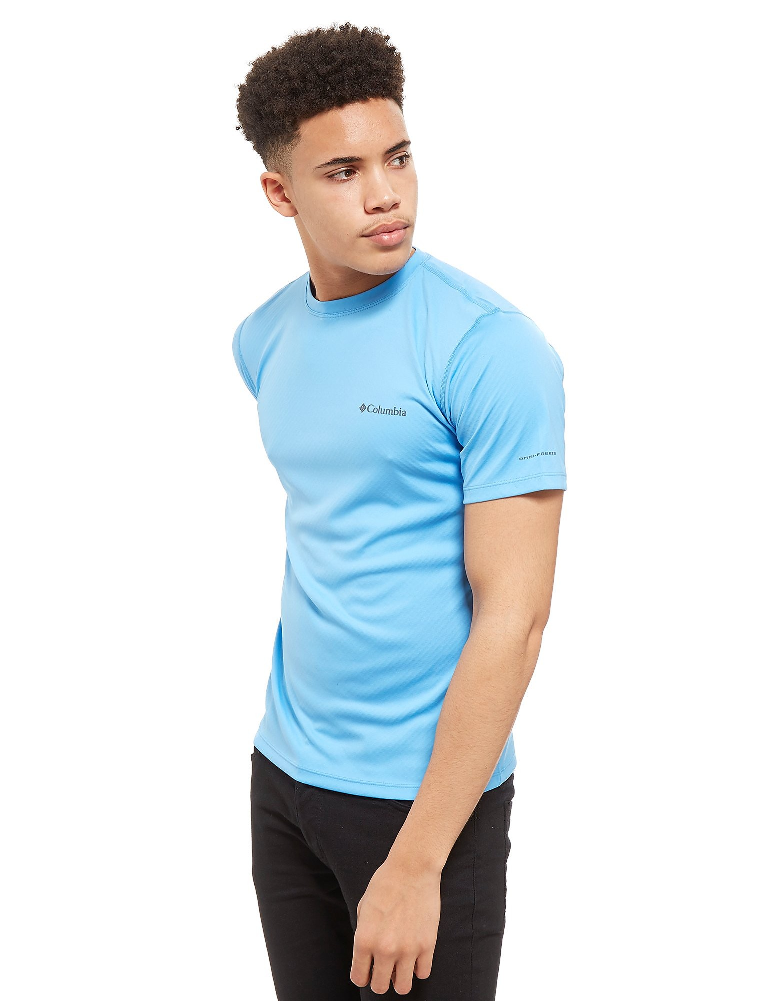 Columbia Short Sleeve Poly Tech T-Shirt Heren - Blauw - Heren