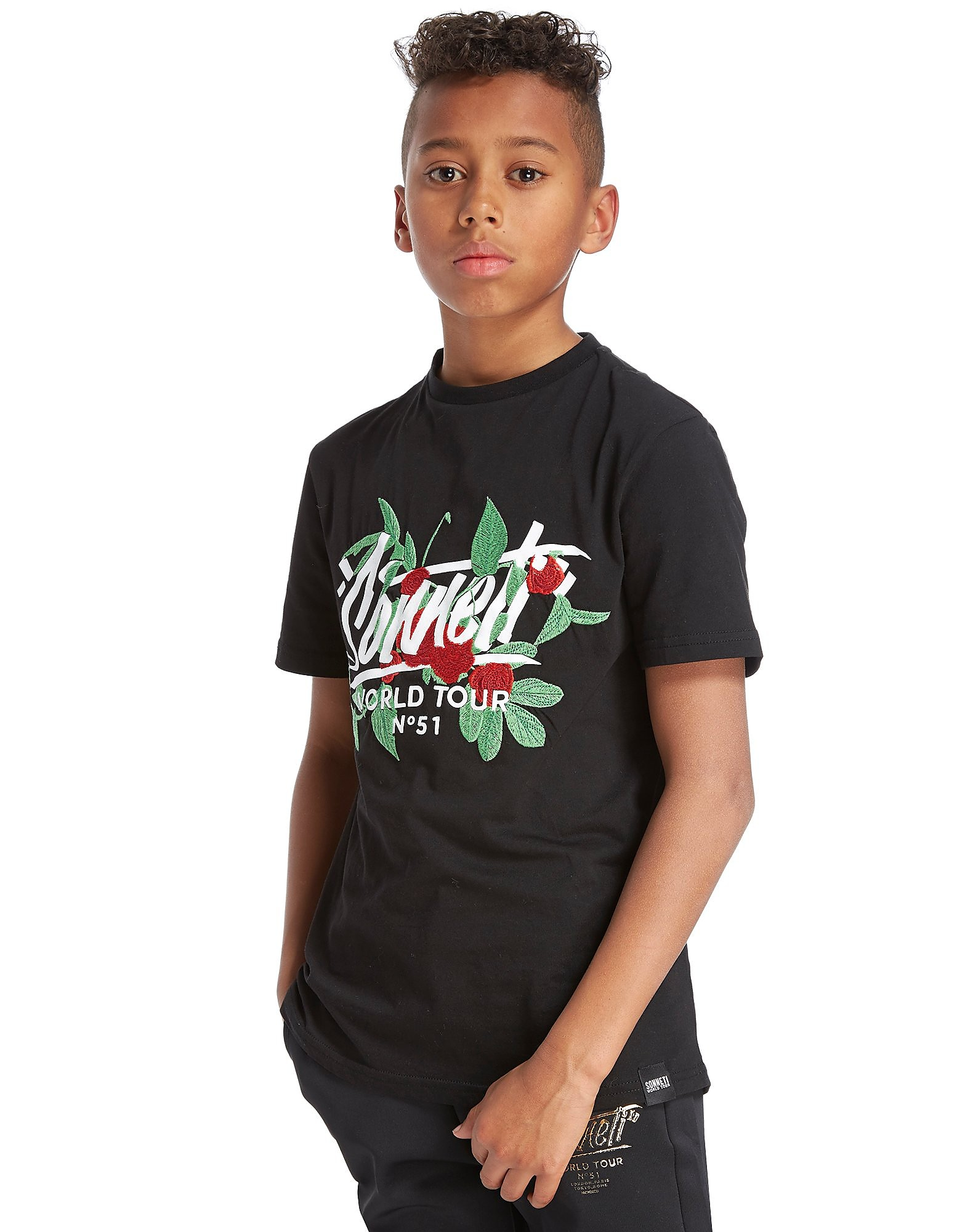 Sonneti Floral Embroidery T-Shirt Junior