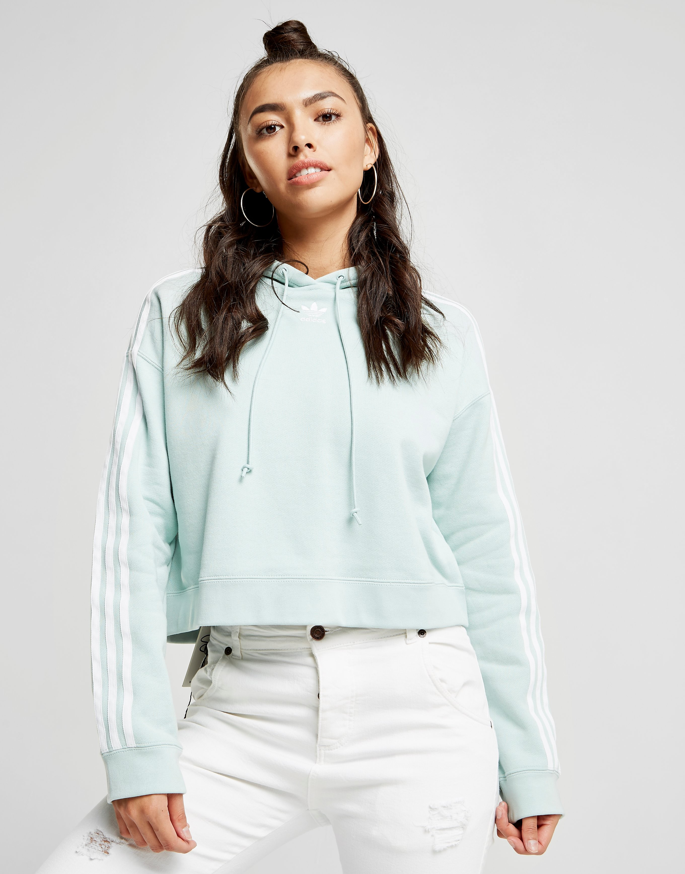 adidas Originals sudadera con capucha 3-Stripes Crop