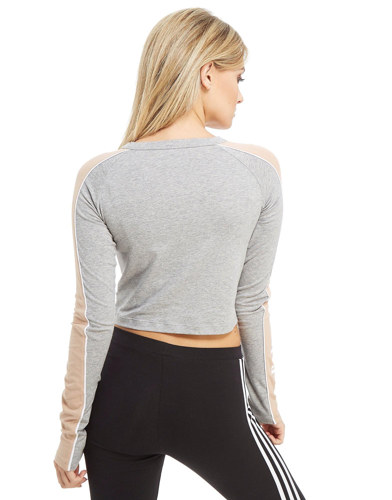 adidas Originals Linear Long Sleeve Crop T-Shirt
