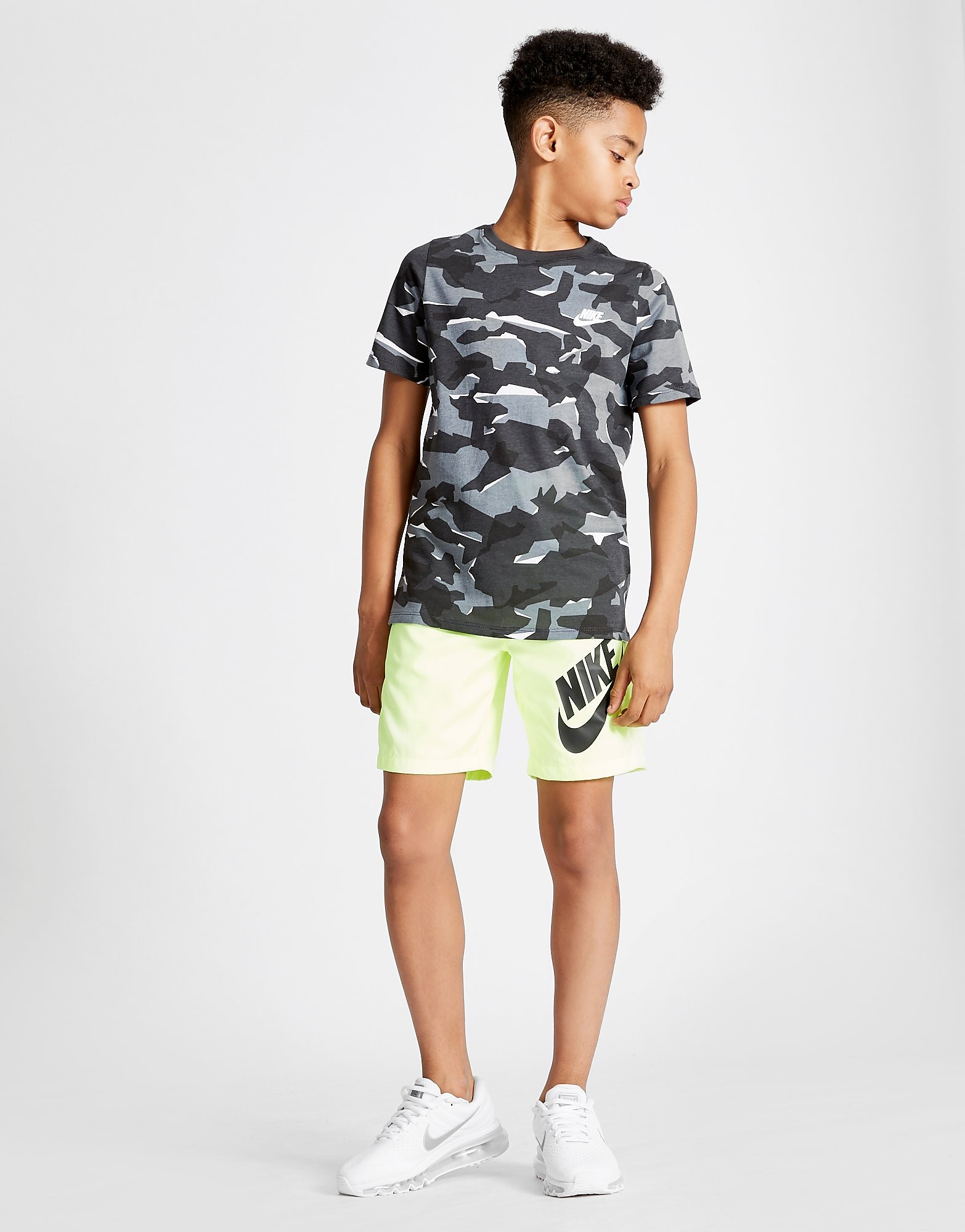 Nike All Over Print Camo T-Shirt Junior