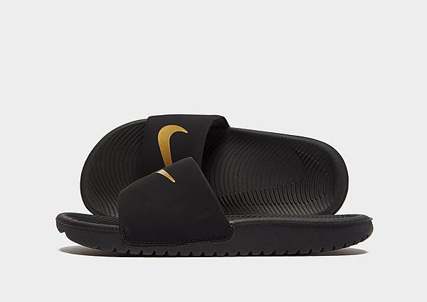 Comprar deportivas Nike chanclas Kawa infantil, Black/Gold