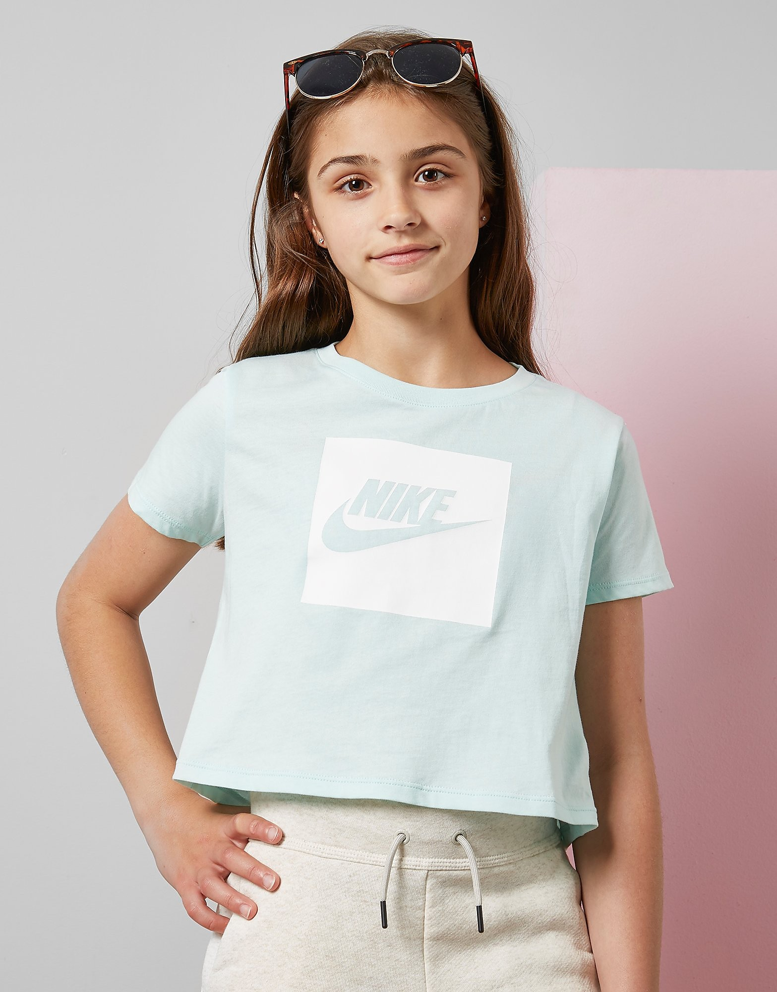 Nike Girls' Crop Box T-Shirt Junior - Groen - Kind