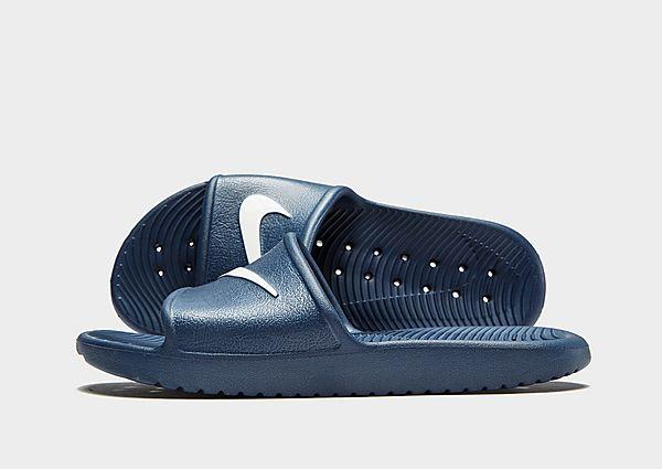 dd7e81f27 Nike Kawa Shower Slides Junior - Blue - Kids - Female First Shopping