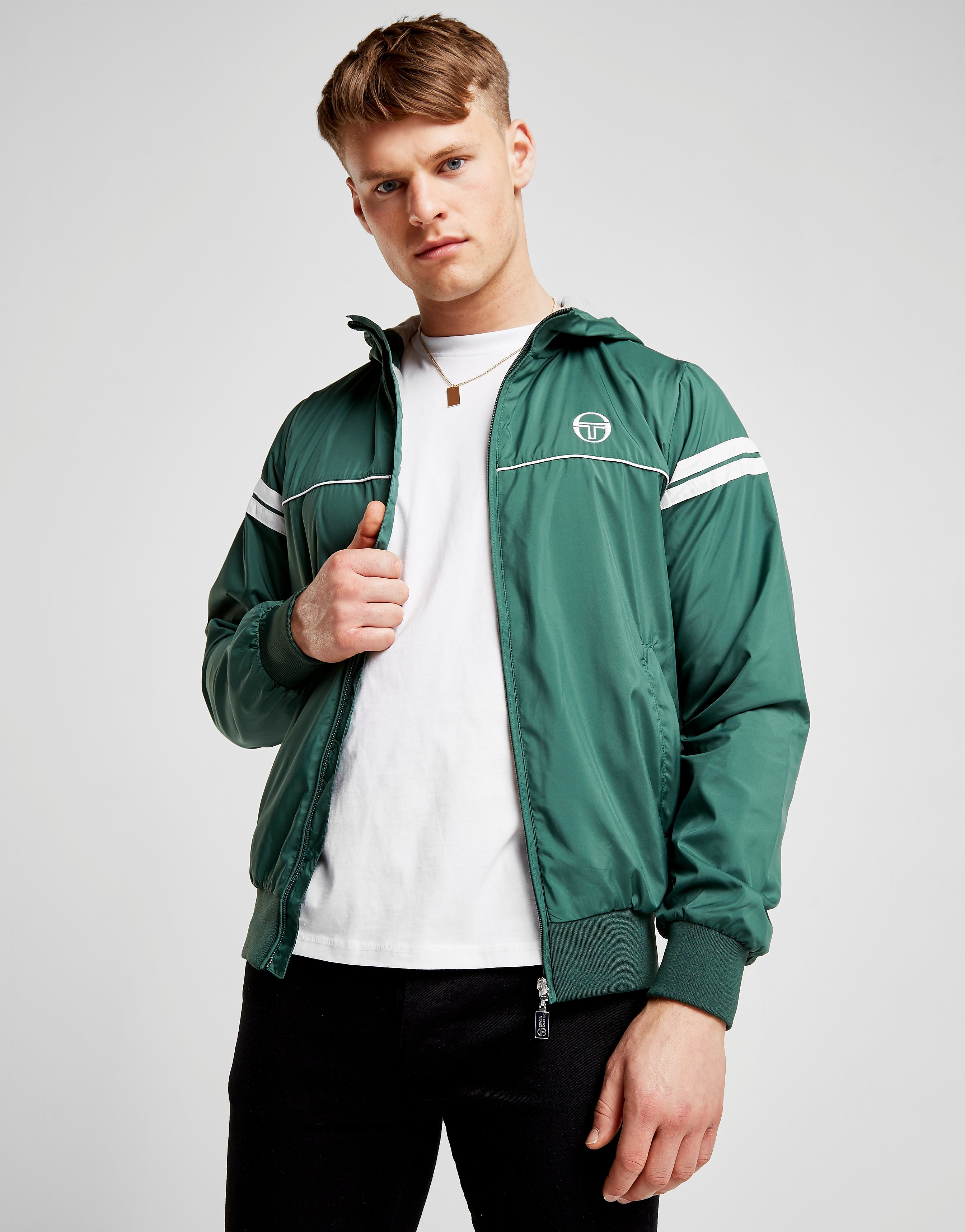 Sergio Tacchini Orion Hooded Jacket - alleen bij JD - Forest Green/White - Heren