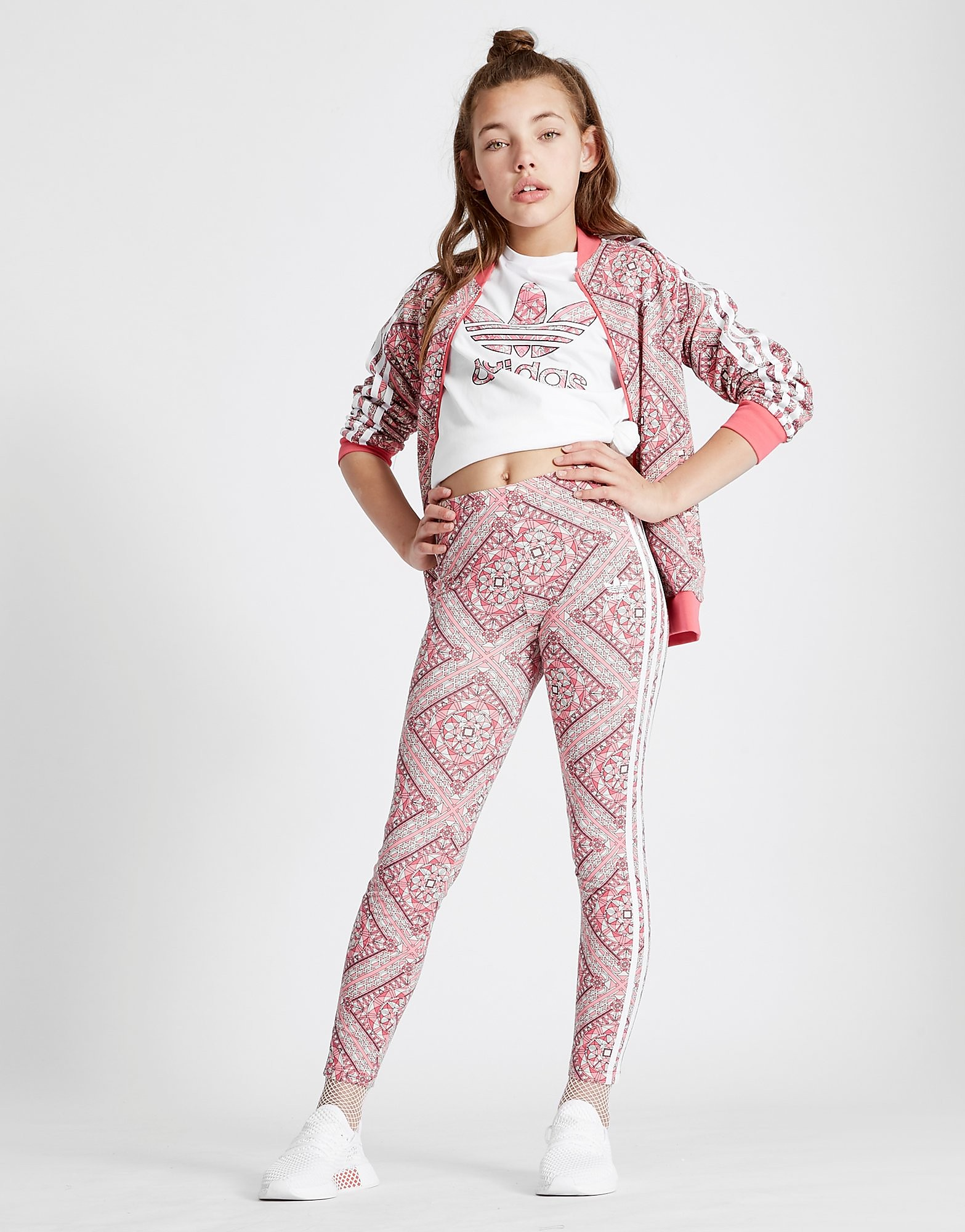 adidas Originals Girls' Geo Leggings Junior